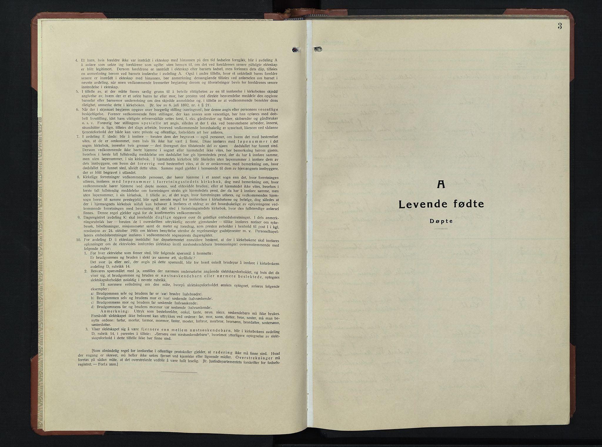 SAH, Øyer prestekontor, Klokkerbok nr. 9, 1939-1953, s. 3