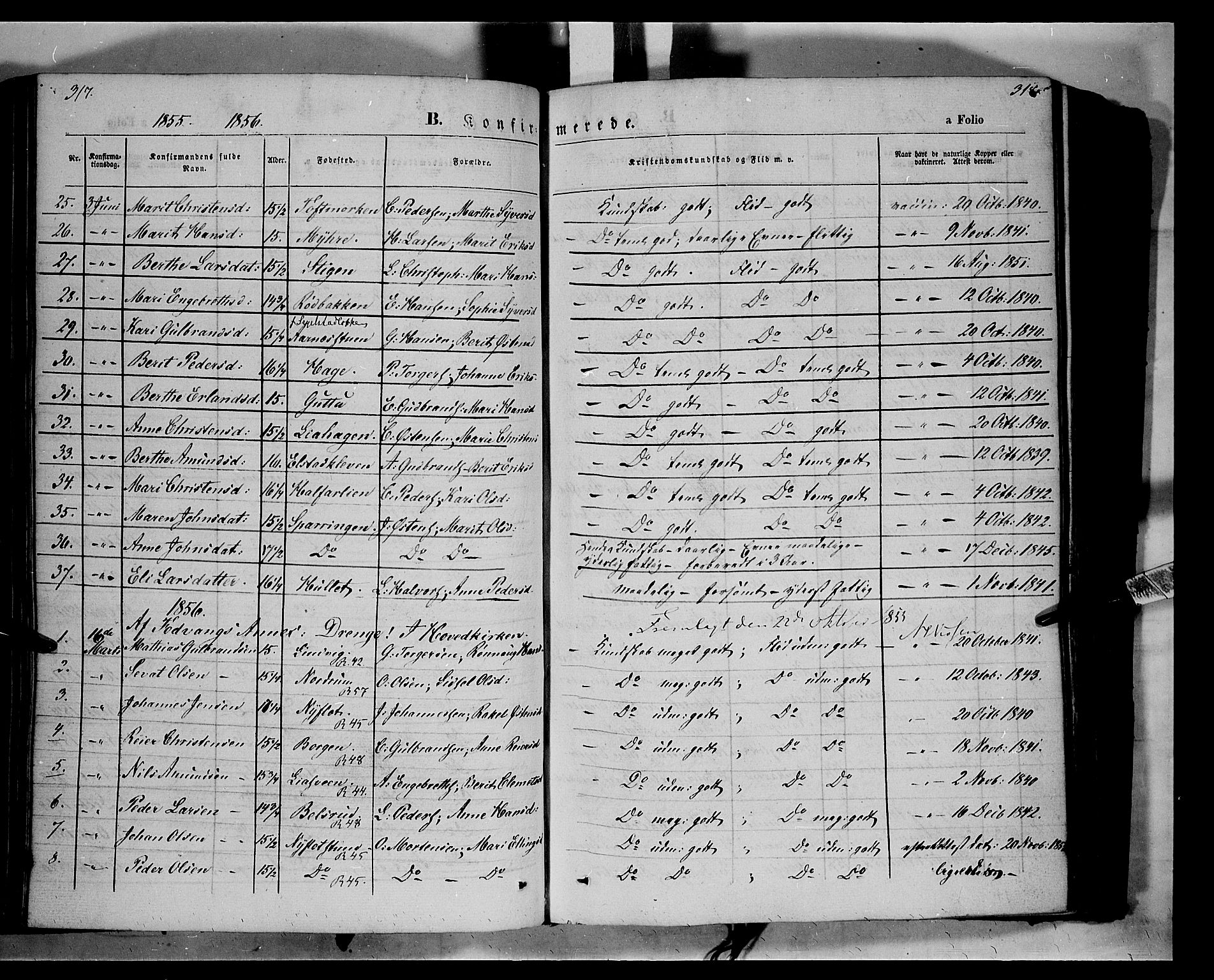SAH, Ringebu prestekontor, Ministerialbok nr. 6, 1848-1859, s. 317-318