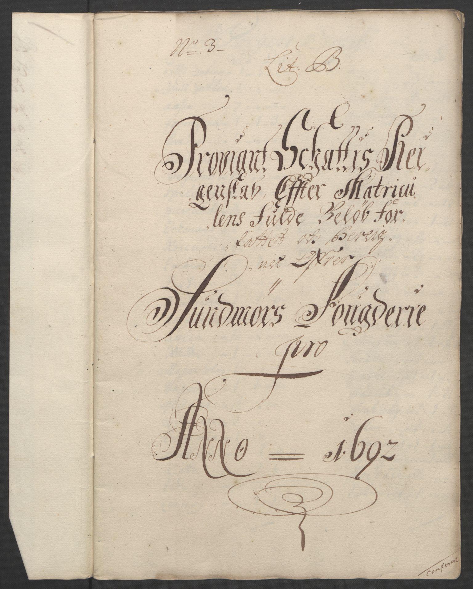 RA, Rentekammeret inntil 1814, Reviderte regnskaper, Fogderegnskap, R54/L3554: Fogderegnskap Sunnmøre, 1691-1693, s. 161