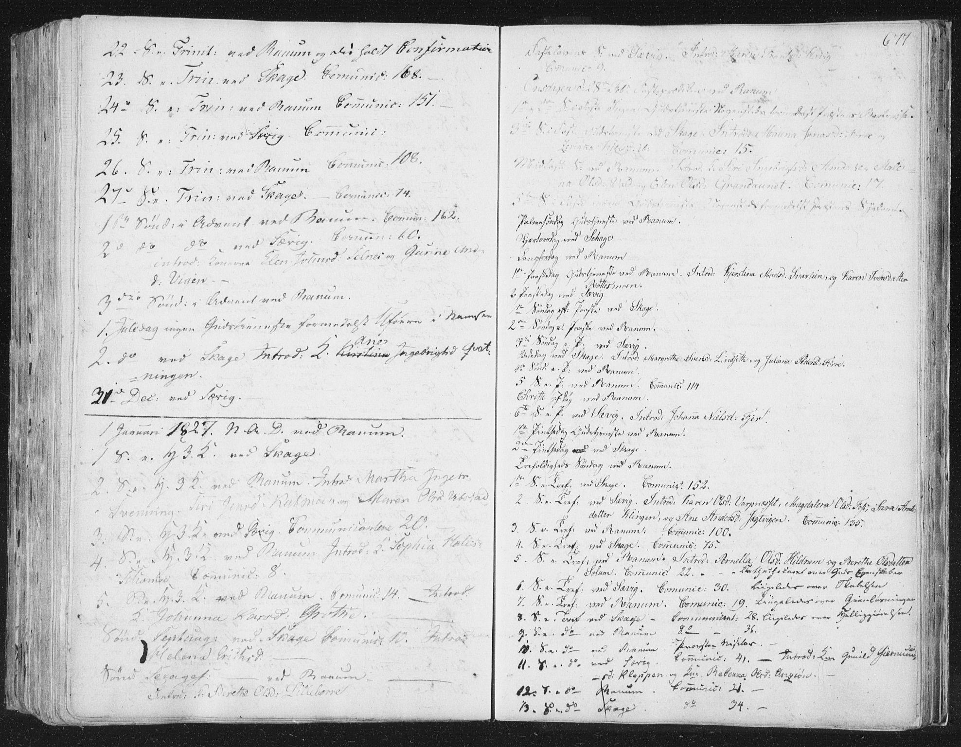 SAT, Ministerialprotokoller, klokkerbøker og fødselsregistre - Nord-Trøndelag, 764/L0552: Ministerialbok nr. 764A07b, 1824-1865, s. 677