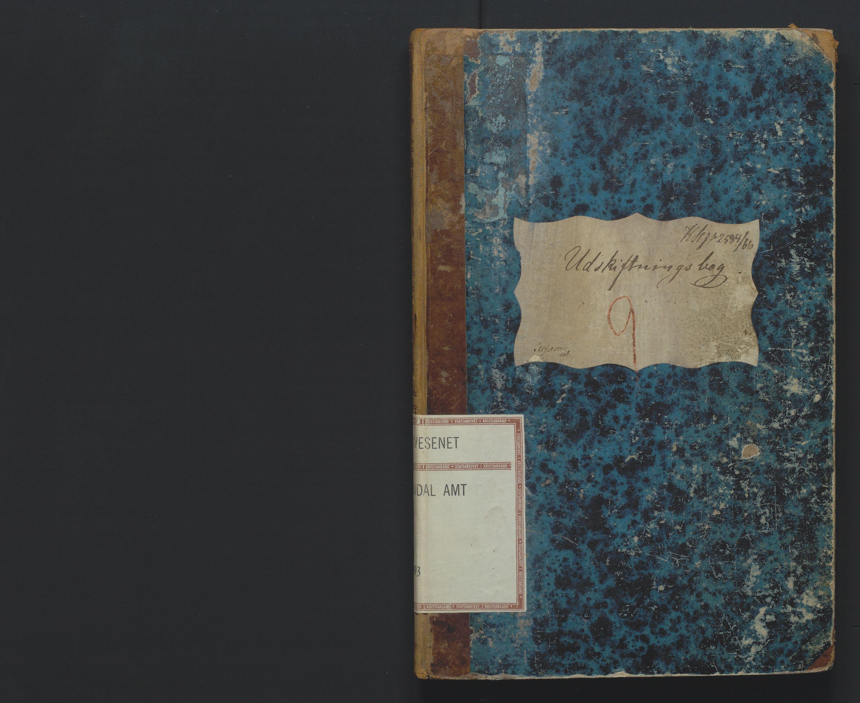 SAK, Utskiftningsformannen i Lister og Mandal amt, F/Fa/Faa/L0009: Utskiftningsprotokoll med register nr 9, 1864-1893
