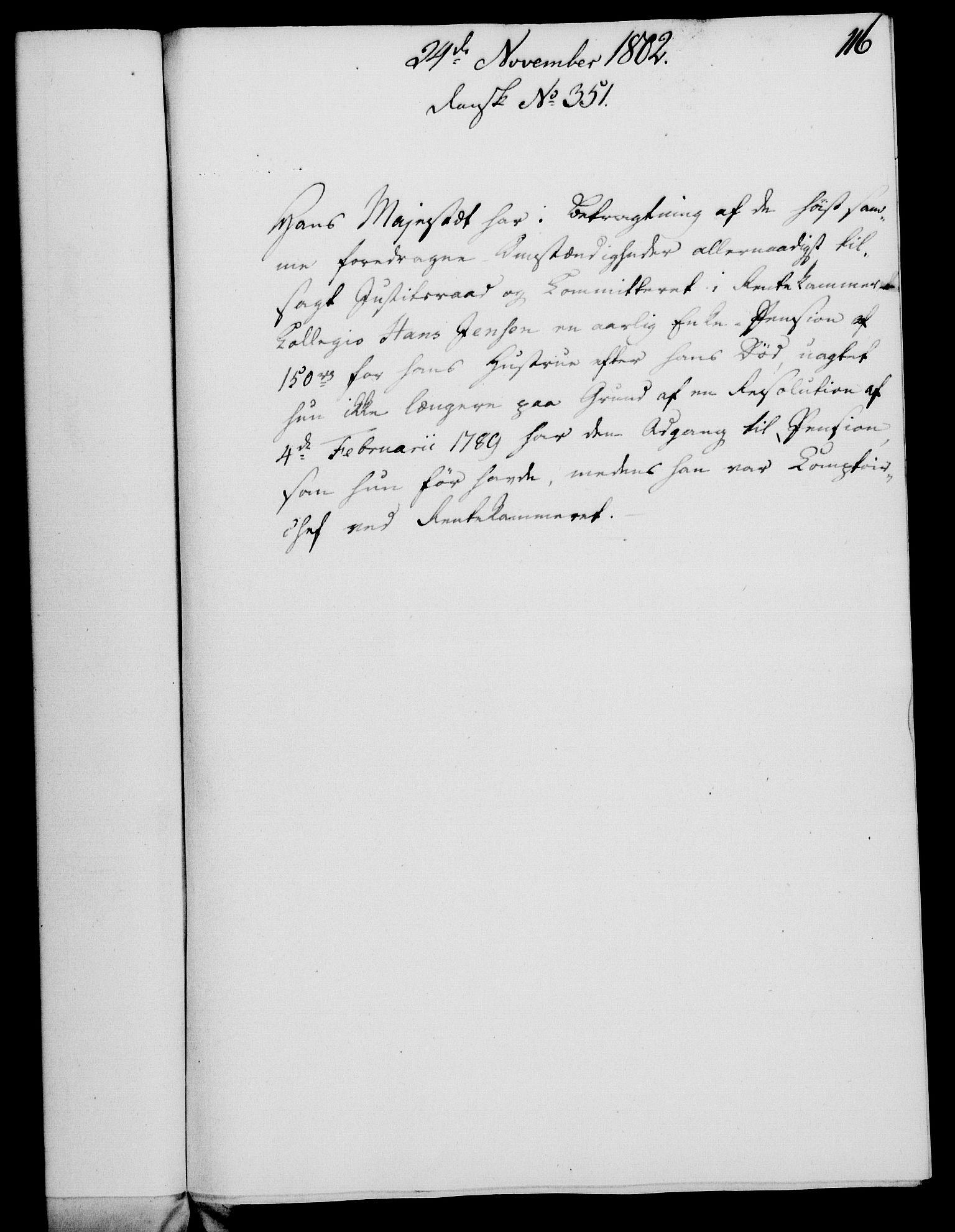 RA, Rentekammeret, Kammerkanselliet, G/Gf/Gfa/L0084: Norsk relasjons- og resolusjonsprotokoll (merket RK 52.84), 1802, s. 705