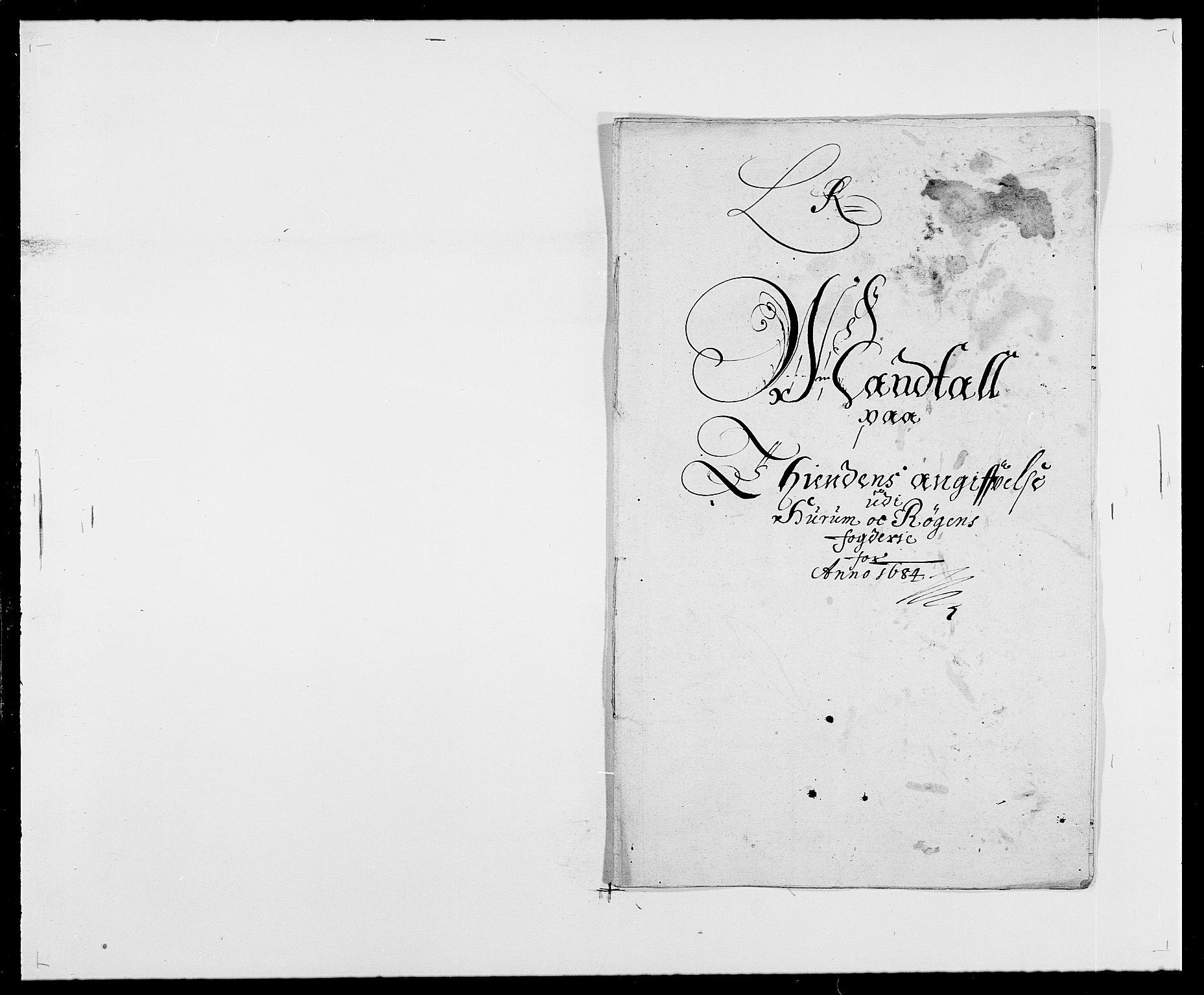 RA, Rentekammeret inntil 1814, Reviderte regnskaper, Fogderegnskap, R29/L1692: Fogderegnskap Hurum og Røyken, 1682-1687, s. 187