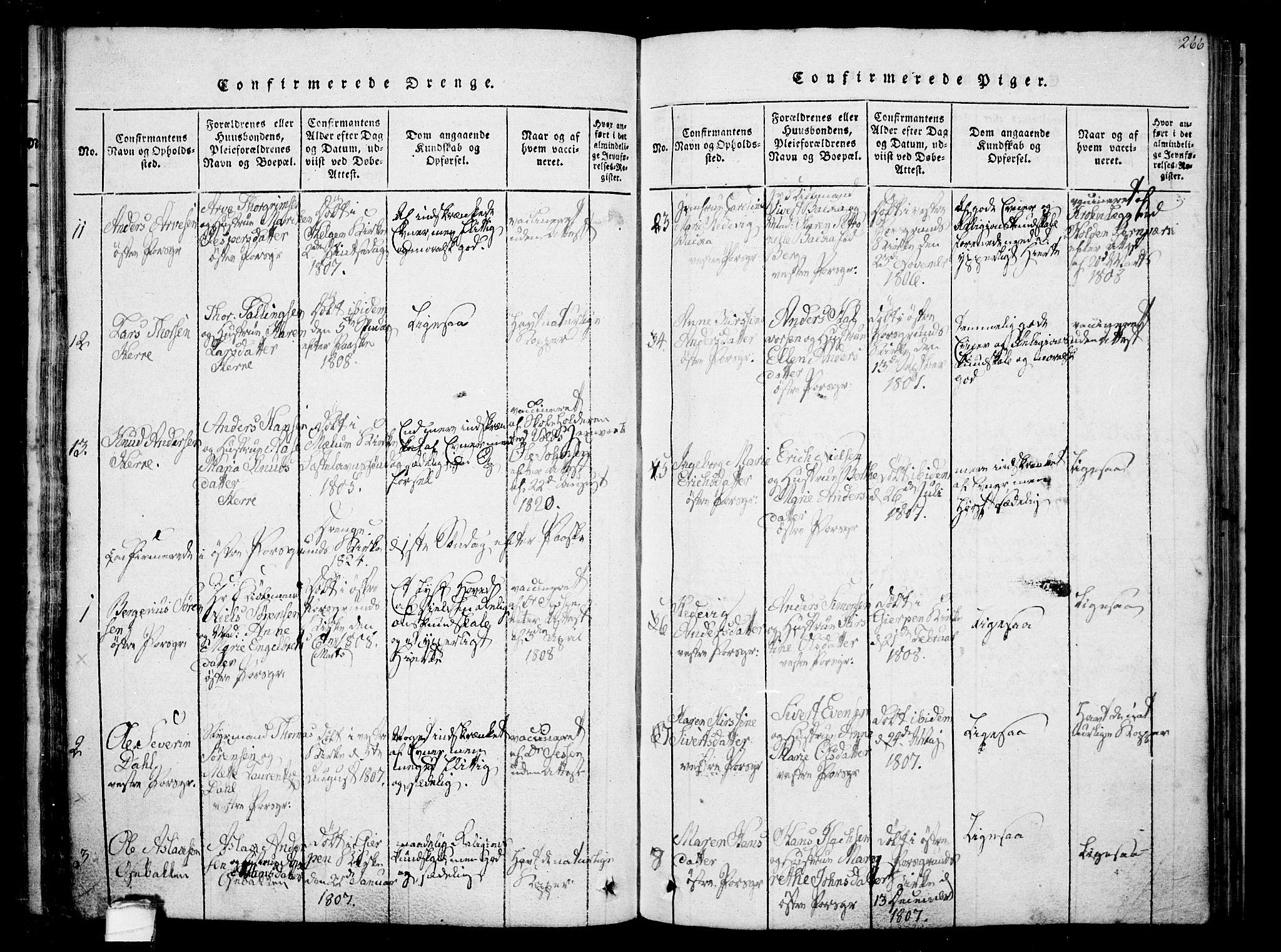 SAKO, Porsgrunn kirkebøker , F/Fa/L0004: Ministerialbok nr. 4, 1814-1828, s. 266