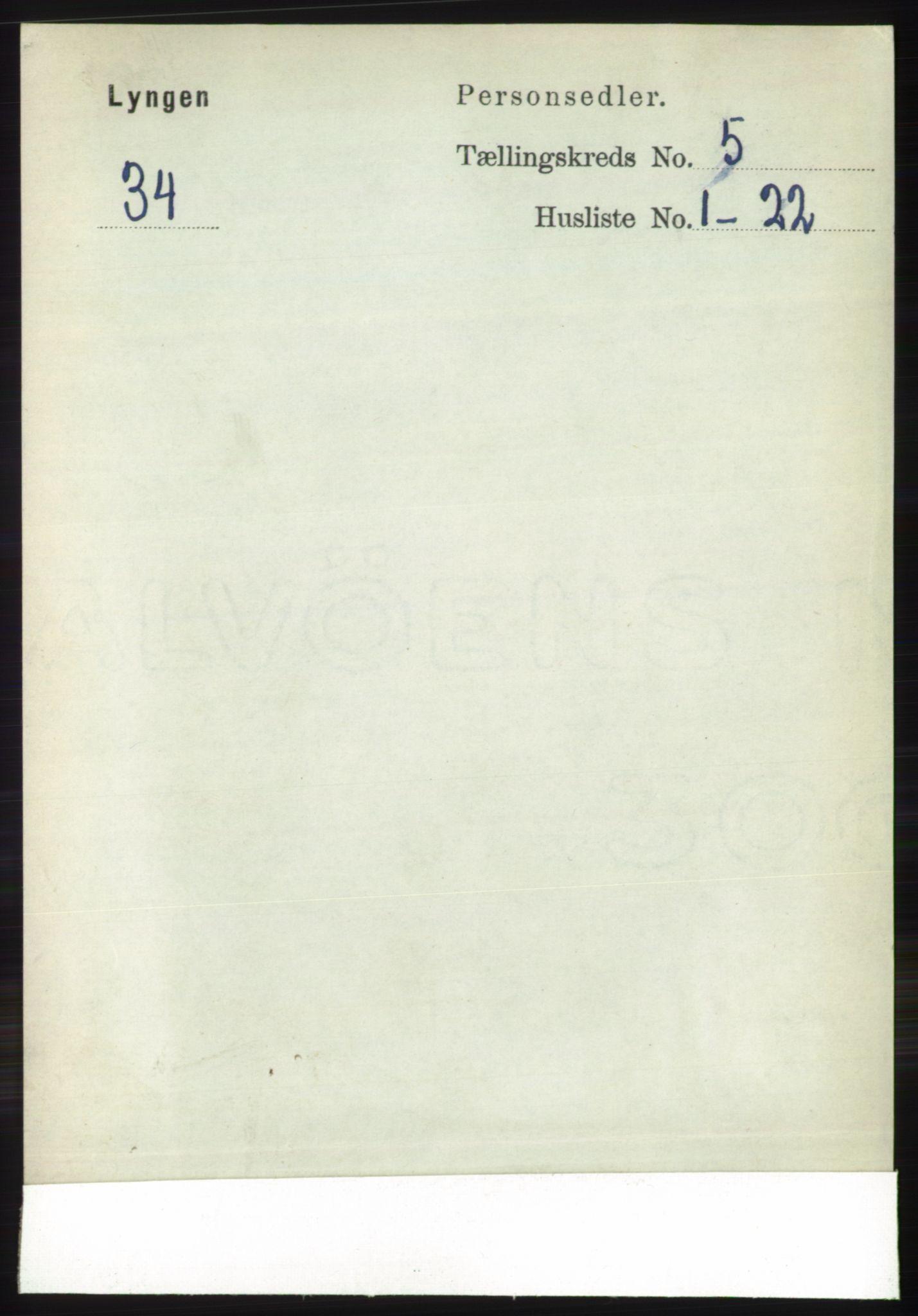 RA, Folketelling 1891 for 1938 Lyngen herred, 1891, s. 4416