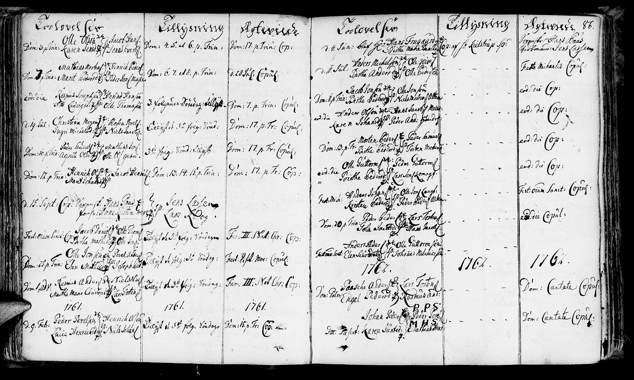 SATØ, Talvik sokneprestkontor, H/Ha/L0004kirke: Ministerialbok nr. 4, 1752-1772, s. 86