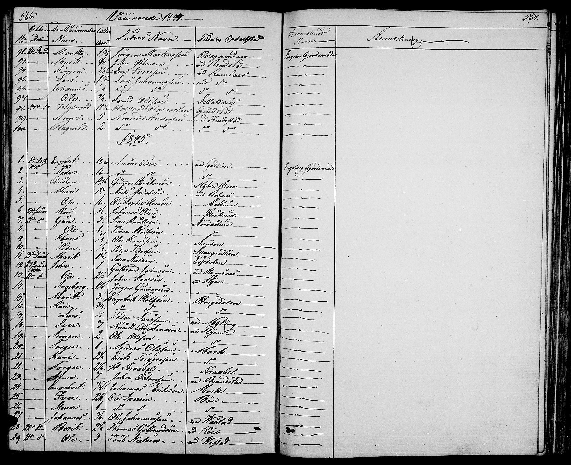 SAH, Ringebu prestekontor, Klokkerbok nr. 2, 1839-1853, s. 566-567