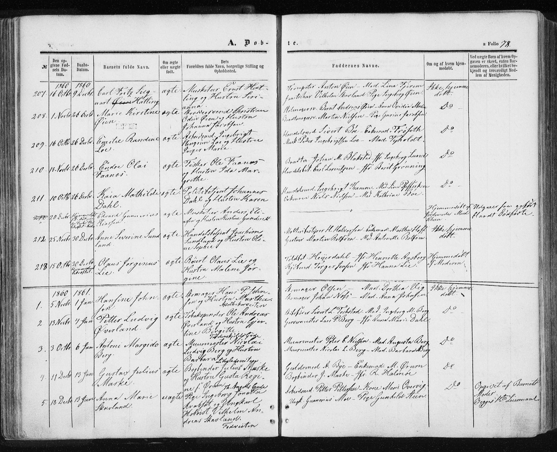SAT, Ministerialprotokoller, klokkerbøker og fødselsregistre - Sør-Trøndelag, 601/L0053: Ministerialbok nr. 601A21, 1857-1865, s. 78