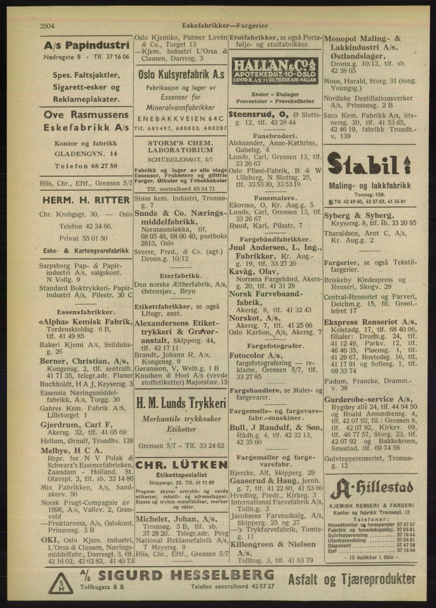 PUBL, Kristiania/Oslo adressebok, 1949, s. 2504