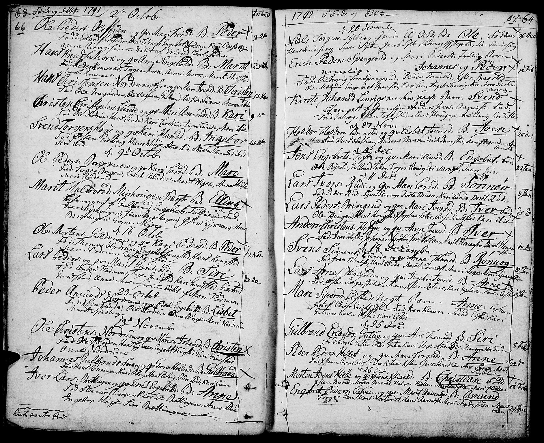 SAH, Ringebu prestekontor, Ministerialbok nr. 3, 1781-1820, s. 66-67