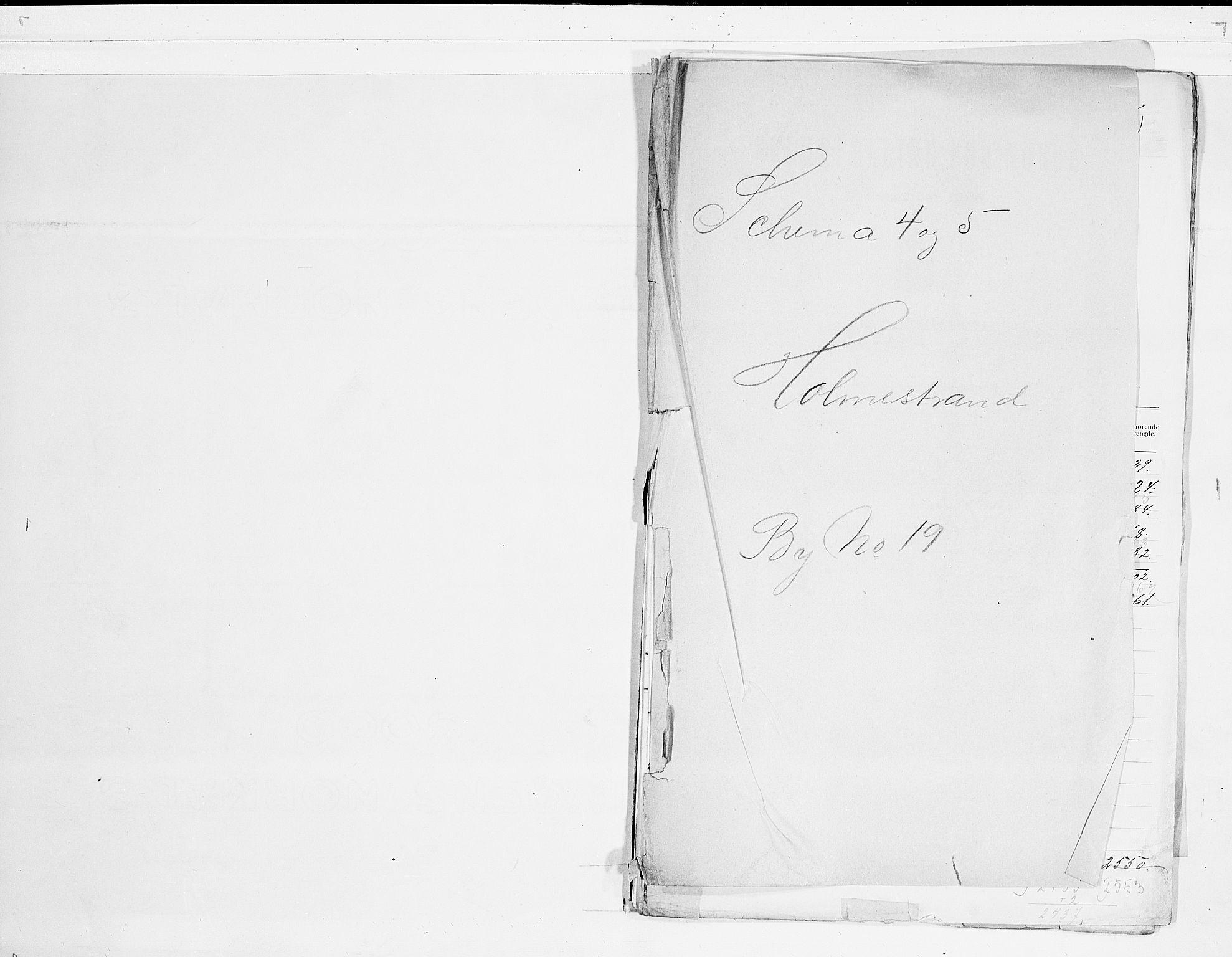 RA, Folketelling 1900 for 0702 Holmestrand kjøpstad, 1900, s. 1