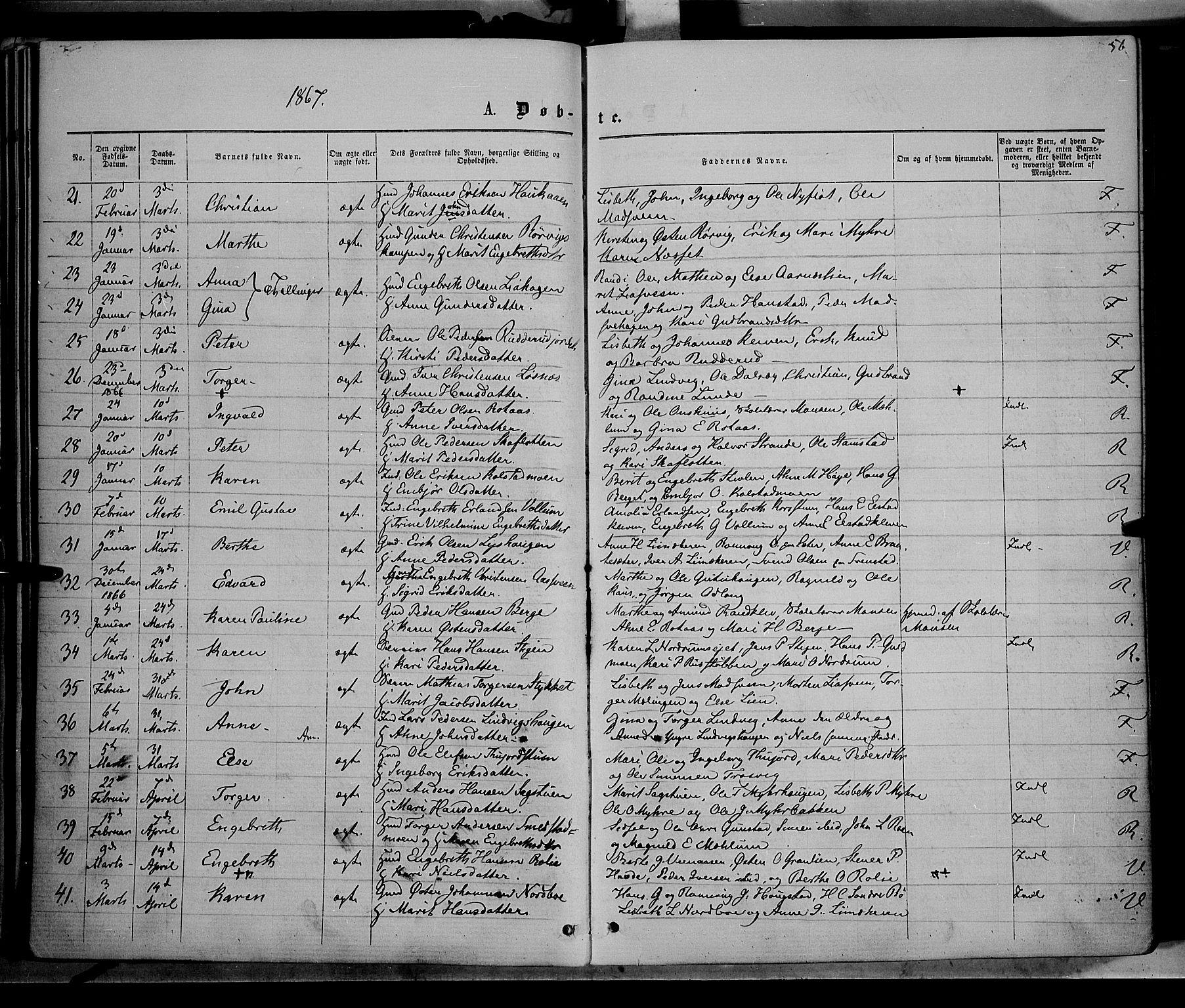 SAH, Ringebu prestekontor, Ministerialbok nr. 7, 1860-1877, s. 56