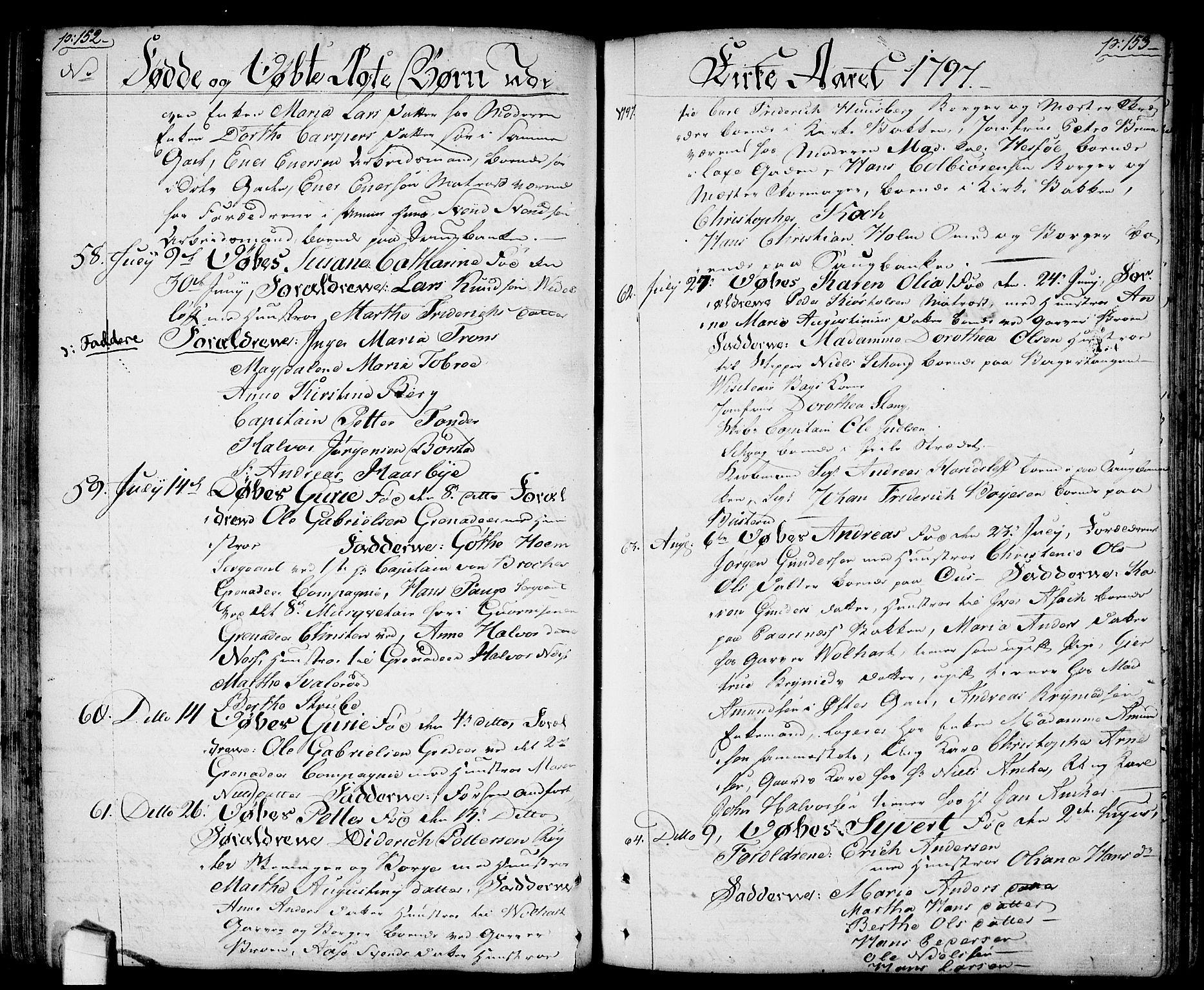 SAO, Halden prestekontor Kirkebøker, F/Fa/L0002: Ministerialbok nr. I 2, 1792-1812, s. 152-153