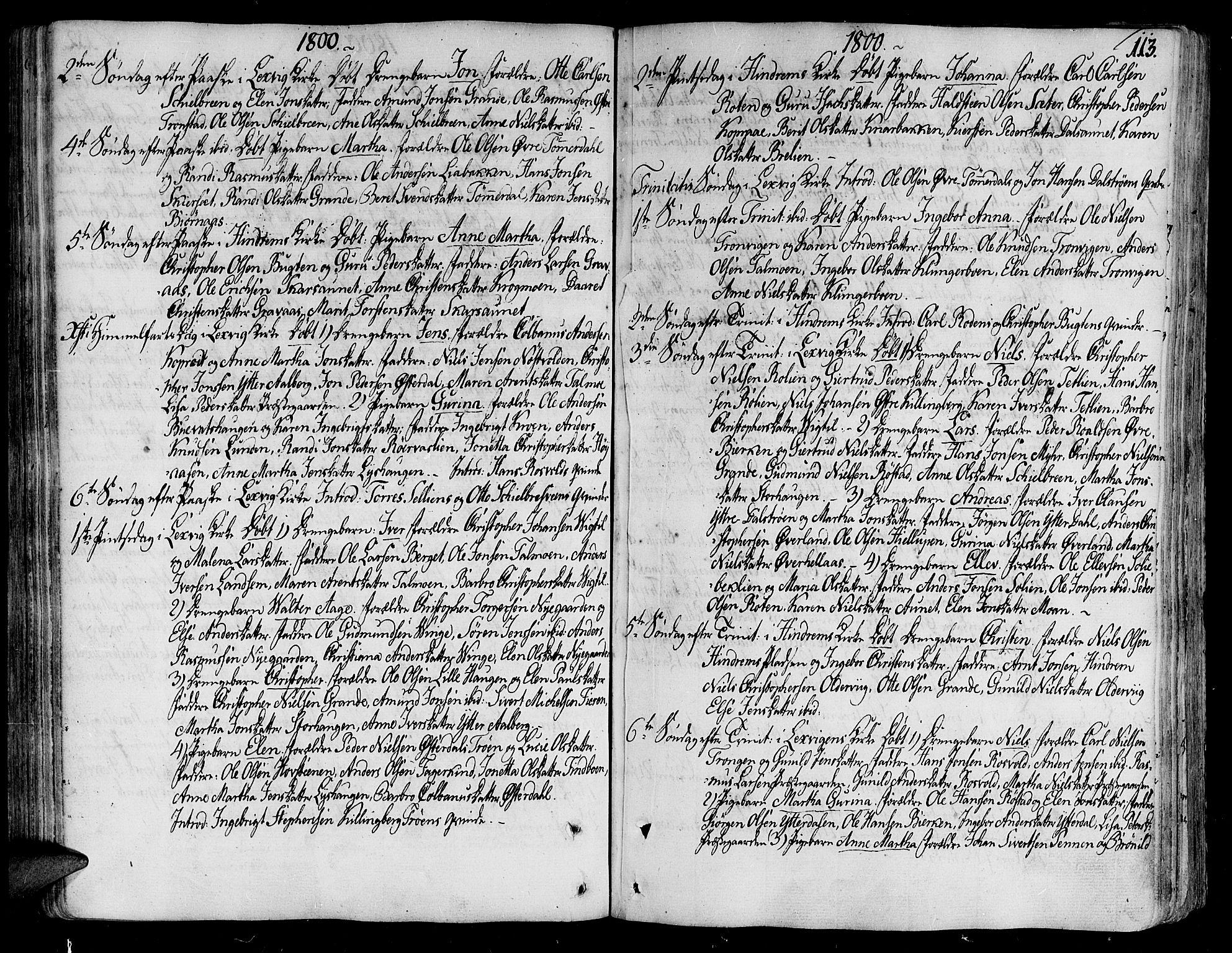SAT, Ministerialprotokoller, klokkerbøker og fødselsregistre - Nord-Trøndelag, 701/L0004: Ministerialbok nr. 701A04, 1783-1816, s. 113