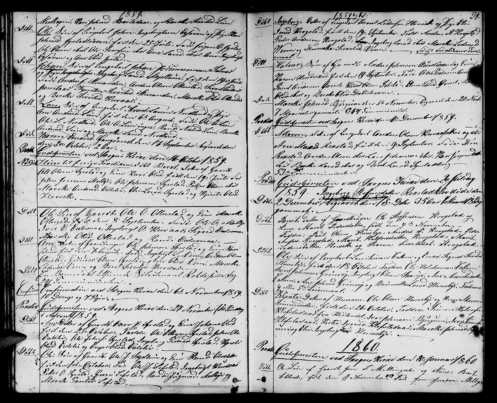 SAT, Ministerialprotokoller, klokkerbøker og fødselsregistre - Sør-Trøndelag, 667/L0797: Klokkerbok nr. 667C02, 1849-1867, s. 34
