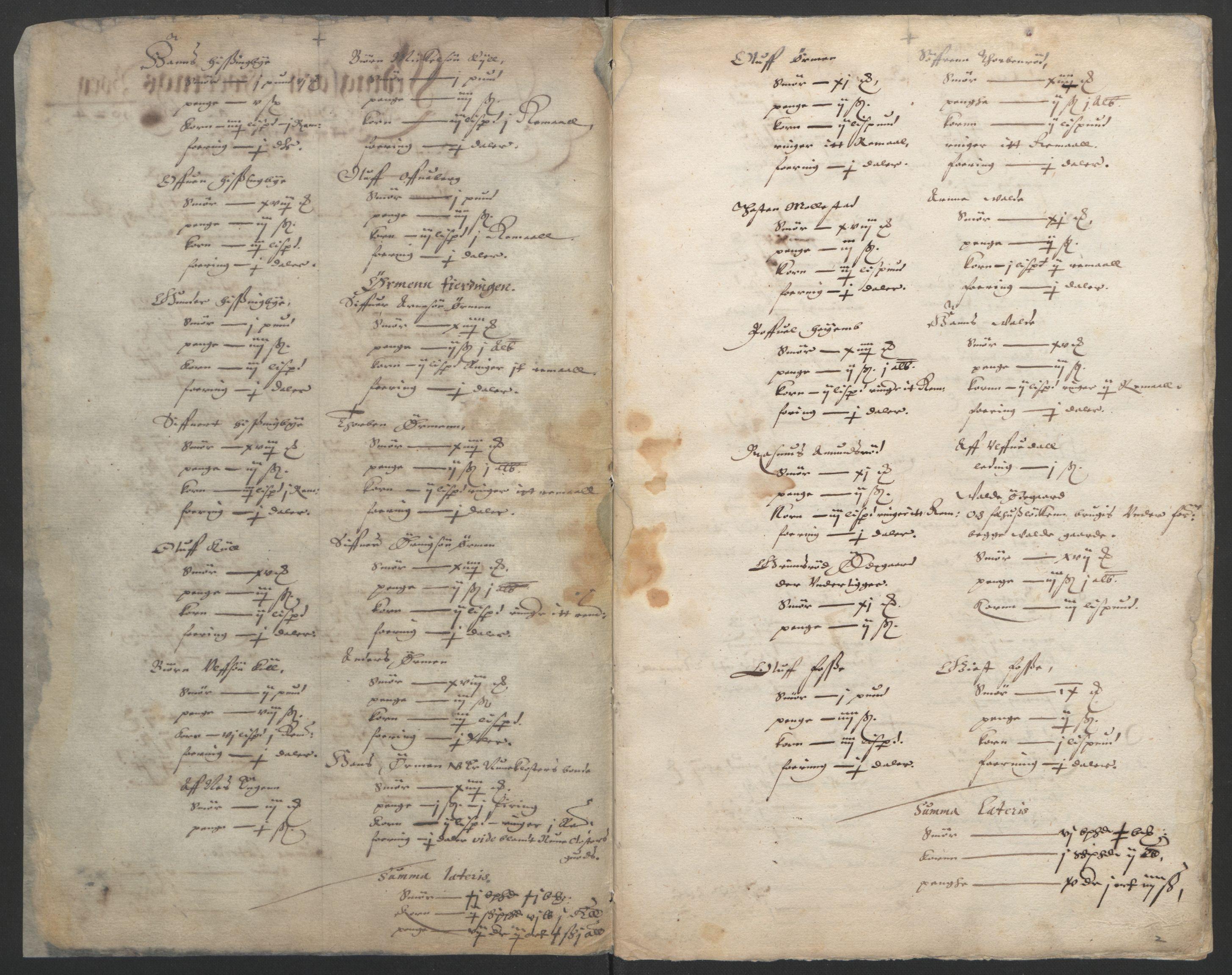 RA, Stattholderembetet 1572-1771, Ek/L0002: Jordebøker til utlikning av garnisonsskatt 1624-1626:, 1624-1626, s. 98