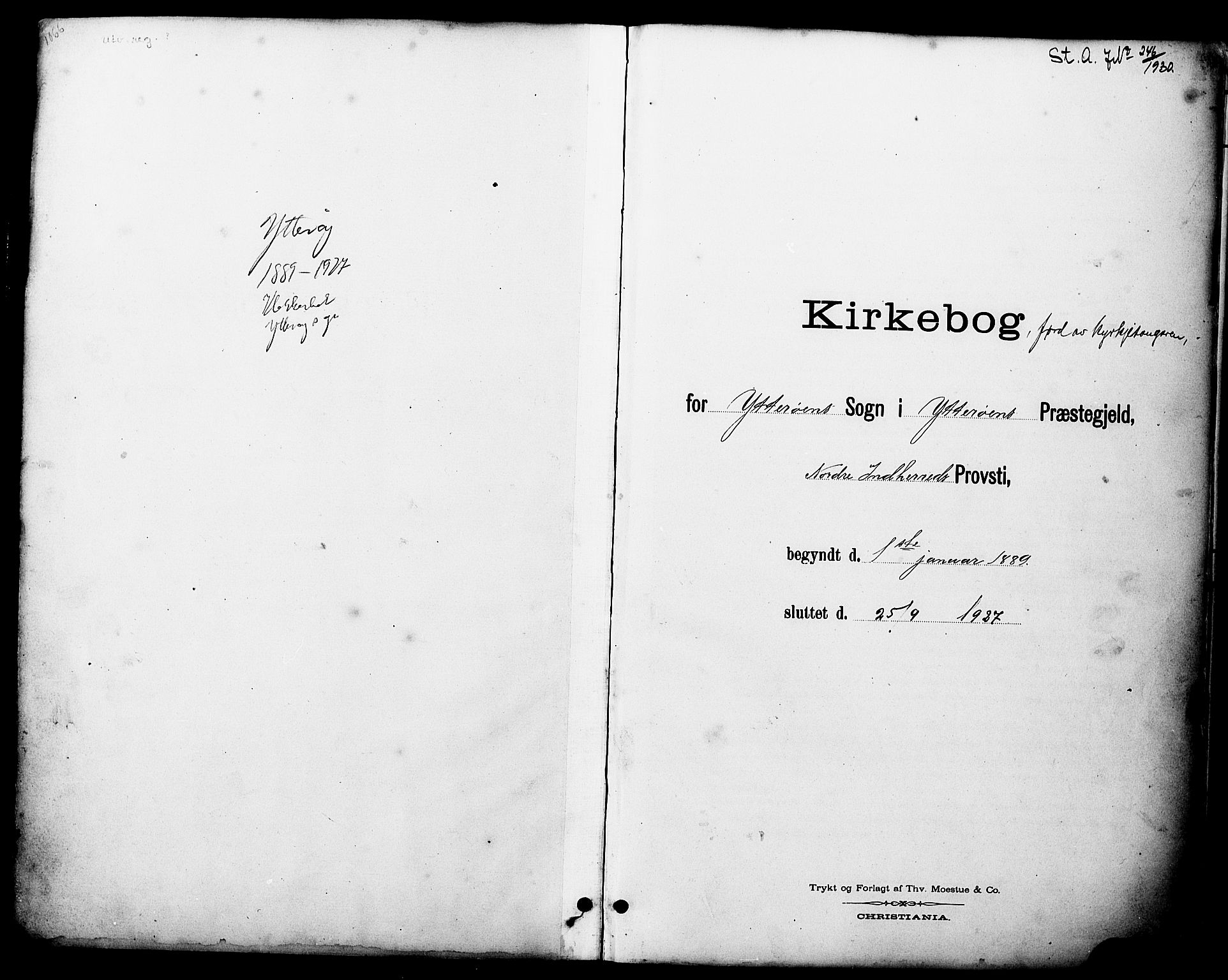SAT, Ministerialprotokoller, klokkerbøker og fødselsregistre - Nord-Trøndelag, 722/L0226: Klokkerbok nr. 722C02, 1889-1927