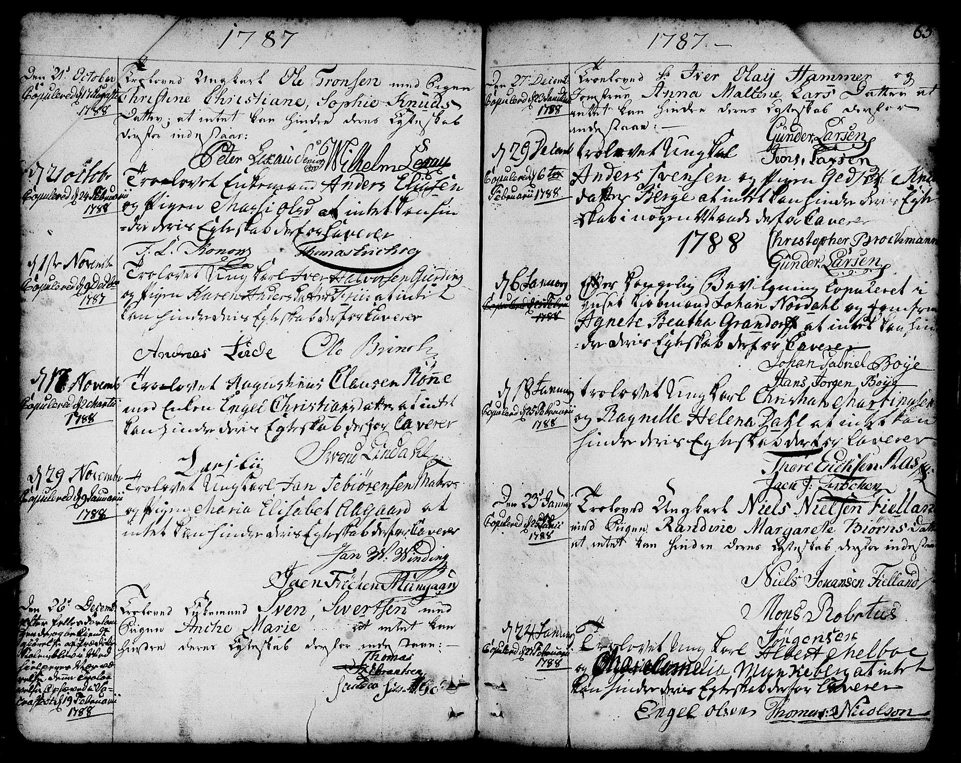 SAB, Nykirken Sokneprestembete, H/Haa: Ministerialbok nr. A 8, 1776-1814, s. 65