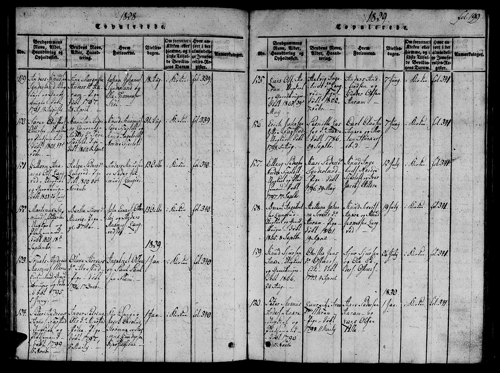 SAT, Ministerialprotokoller, klokkerbøker og fødselsregistre - Møre og Romsdal, 536/L0495: Ministerialbok nr. 536A04, 1818-1847, s. 199
