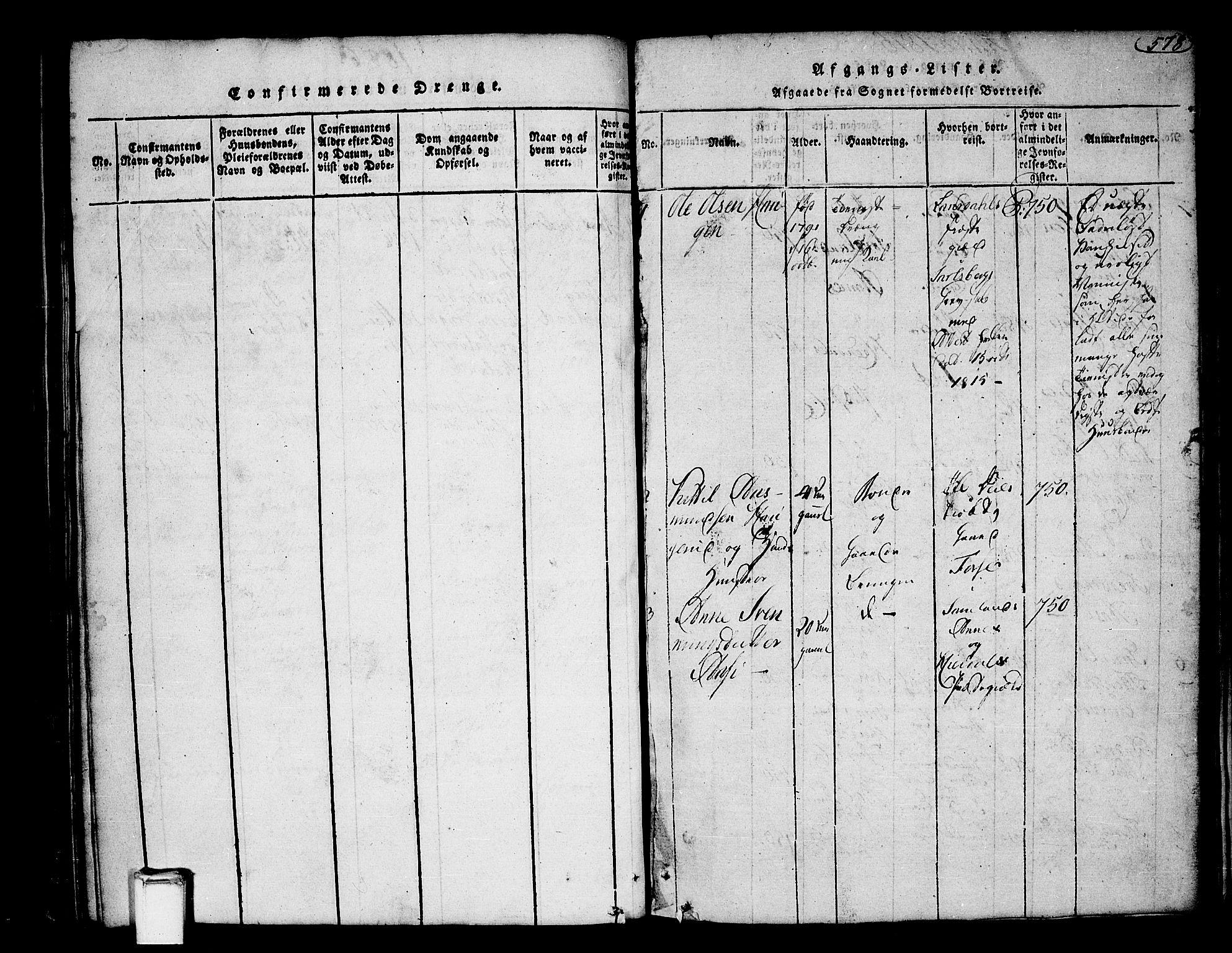 SAKO, Heddal kirkebøker, F/Fa/L0005: Ministerialbok nr. I 5, 1814-1837, s. 577-578