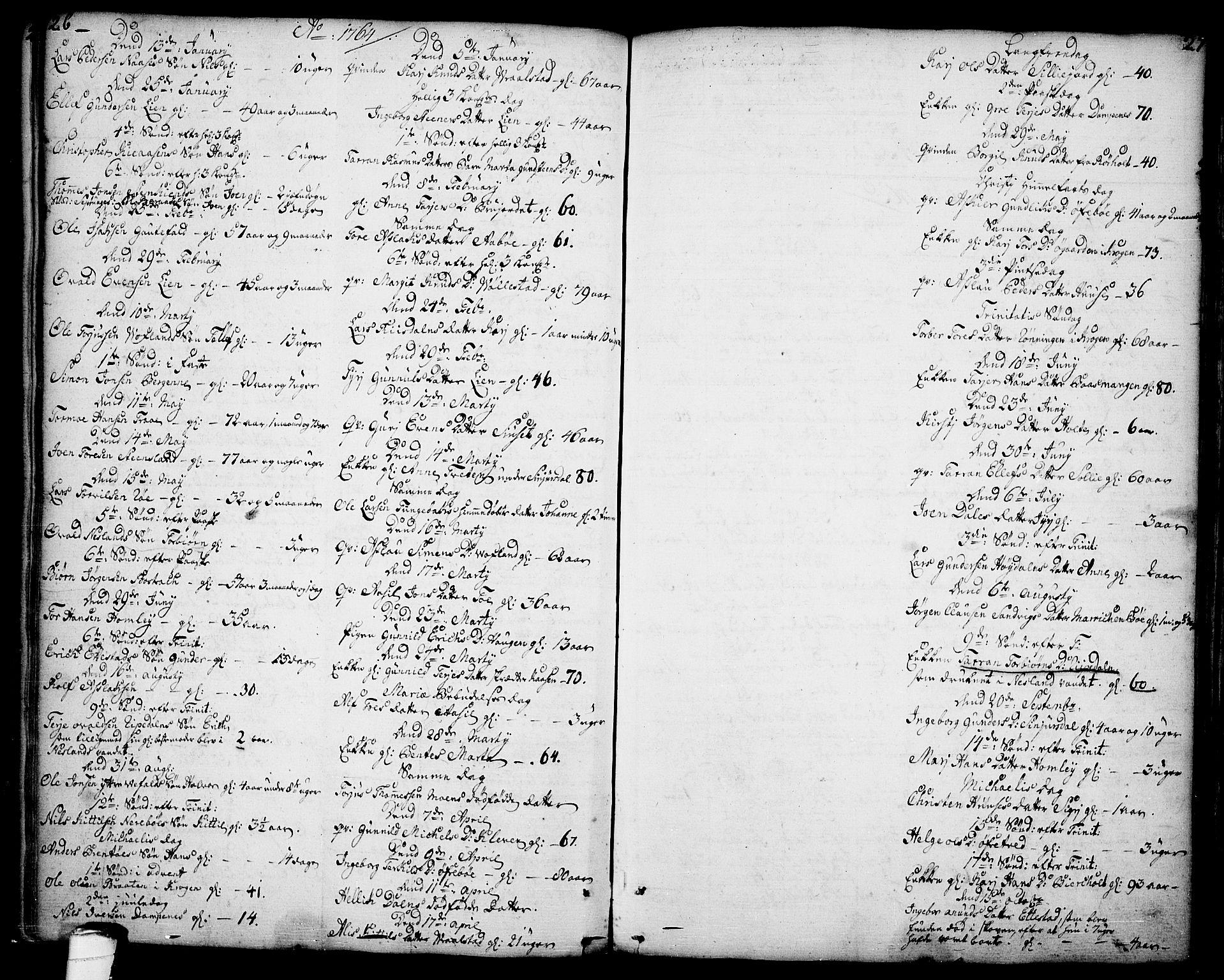 SAKO, Drangedal kirkebøker, F/Fa/L0001: Ministerialbok nr. 1, 1697-1767, s. 26-27