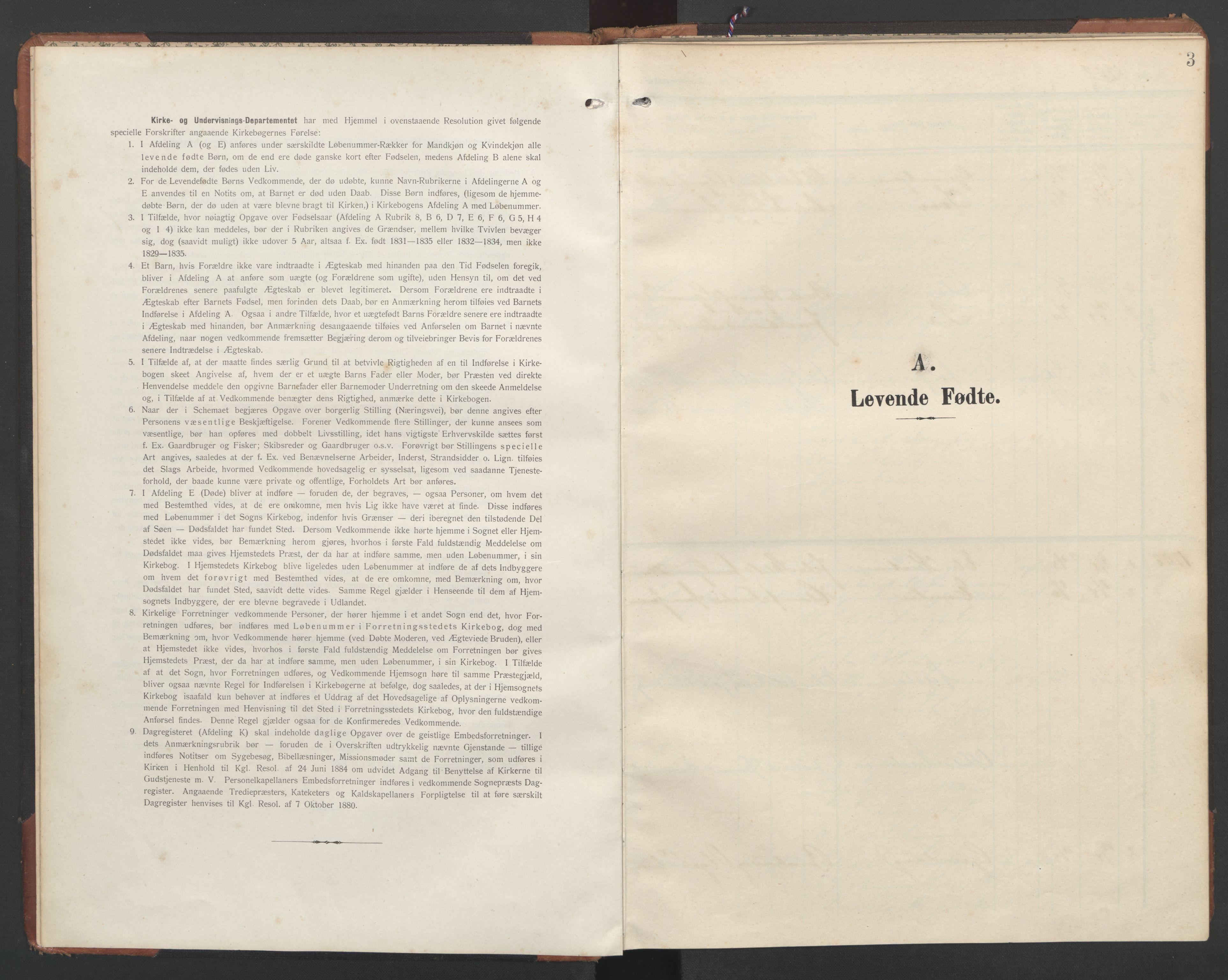 SAT, Ministerialprotokoller, klokkerbøker og fødselsregistre - Nord-Trøndelag, 748/L0465: Klokkerbok nr. 748C01, 1908-1960, s. 3