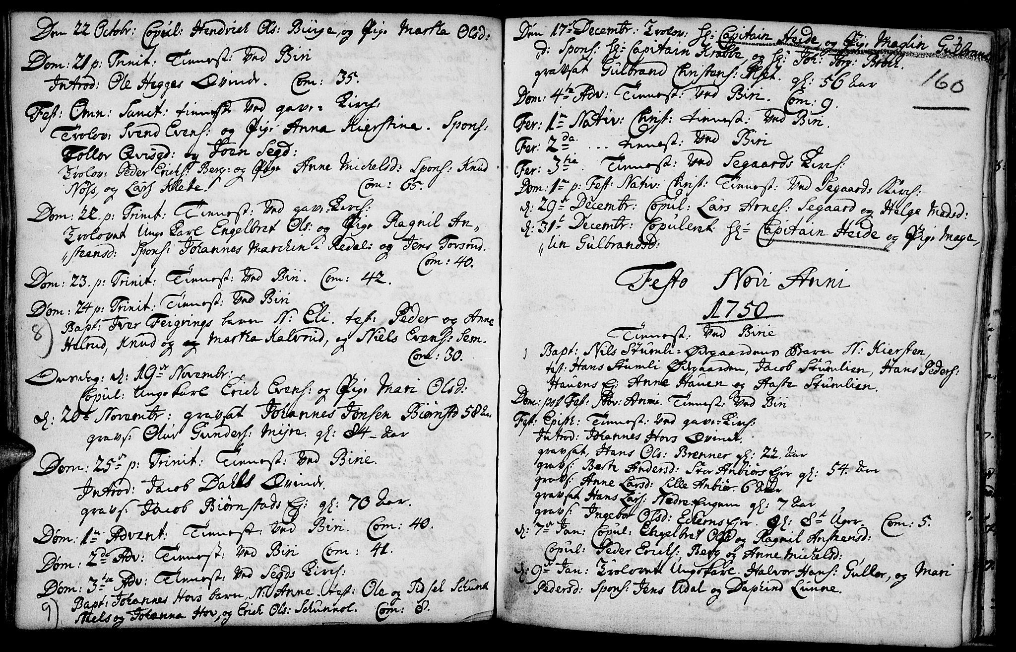 SAH, Biri prestekontor, Ministerialbok nr. 1, 1730-1754, s. 160