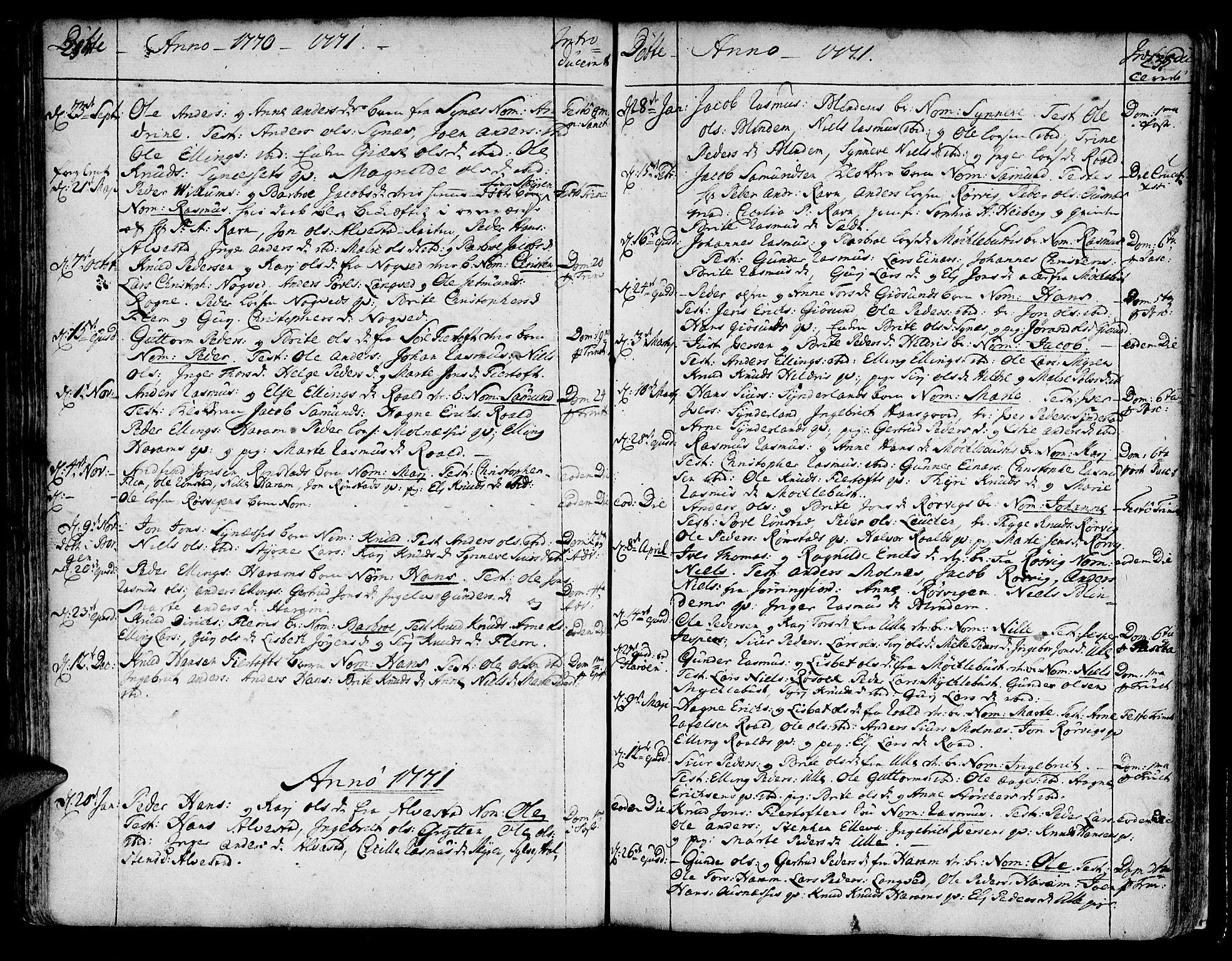 SAT, Ministerialprotokoller, klokkerbøker og fødselsregistre - Møre og Romsdal, 536/L0493: Ministerialbok nr. 536A02, 1739-1802, s. 234-235