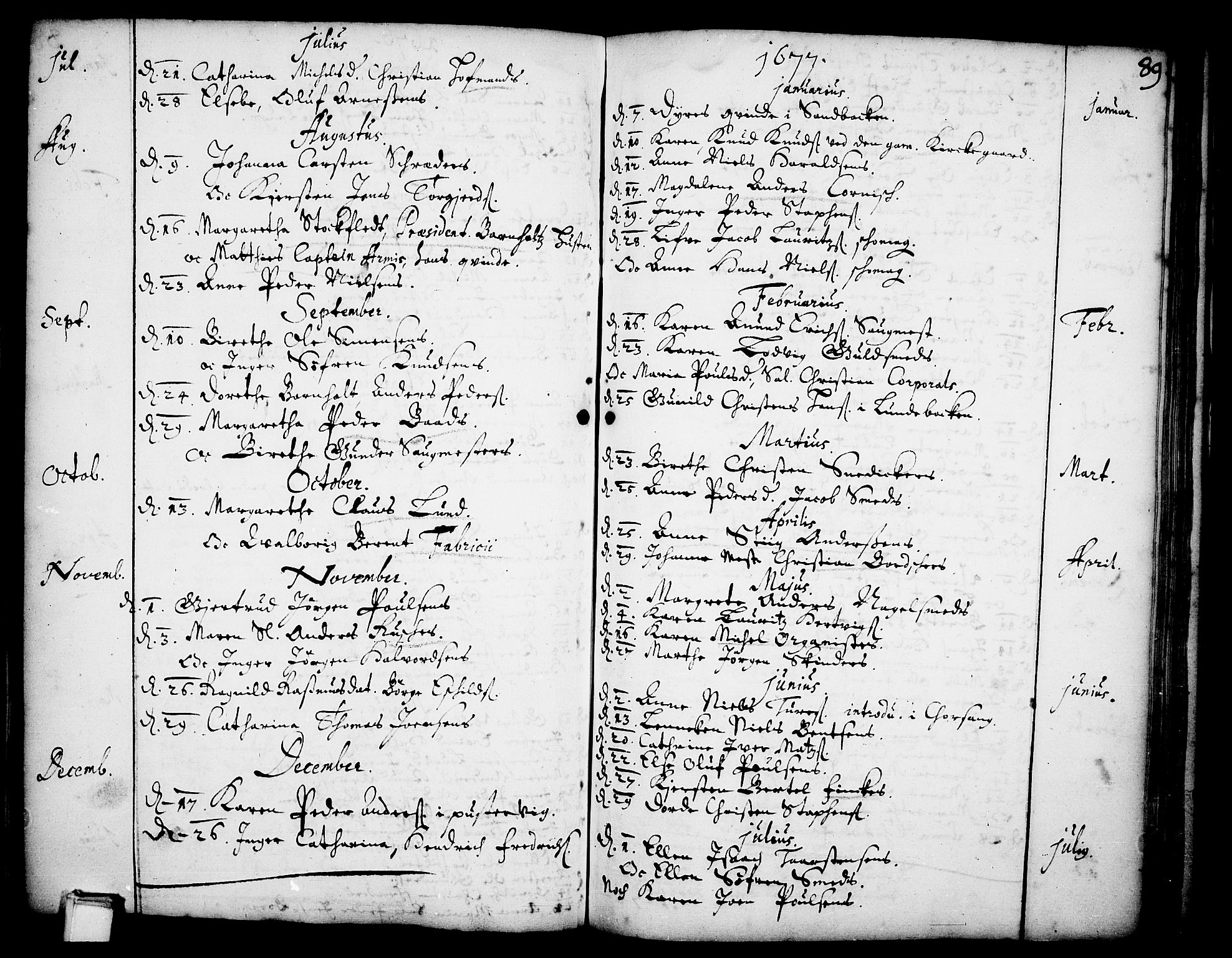 SAKO, Skien kirkebøker, F/Fa/L0001: Ministerialbok nr. 1, 1659-1679, s. 89