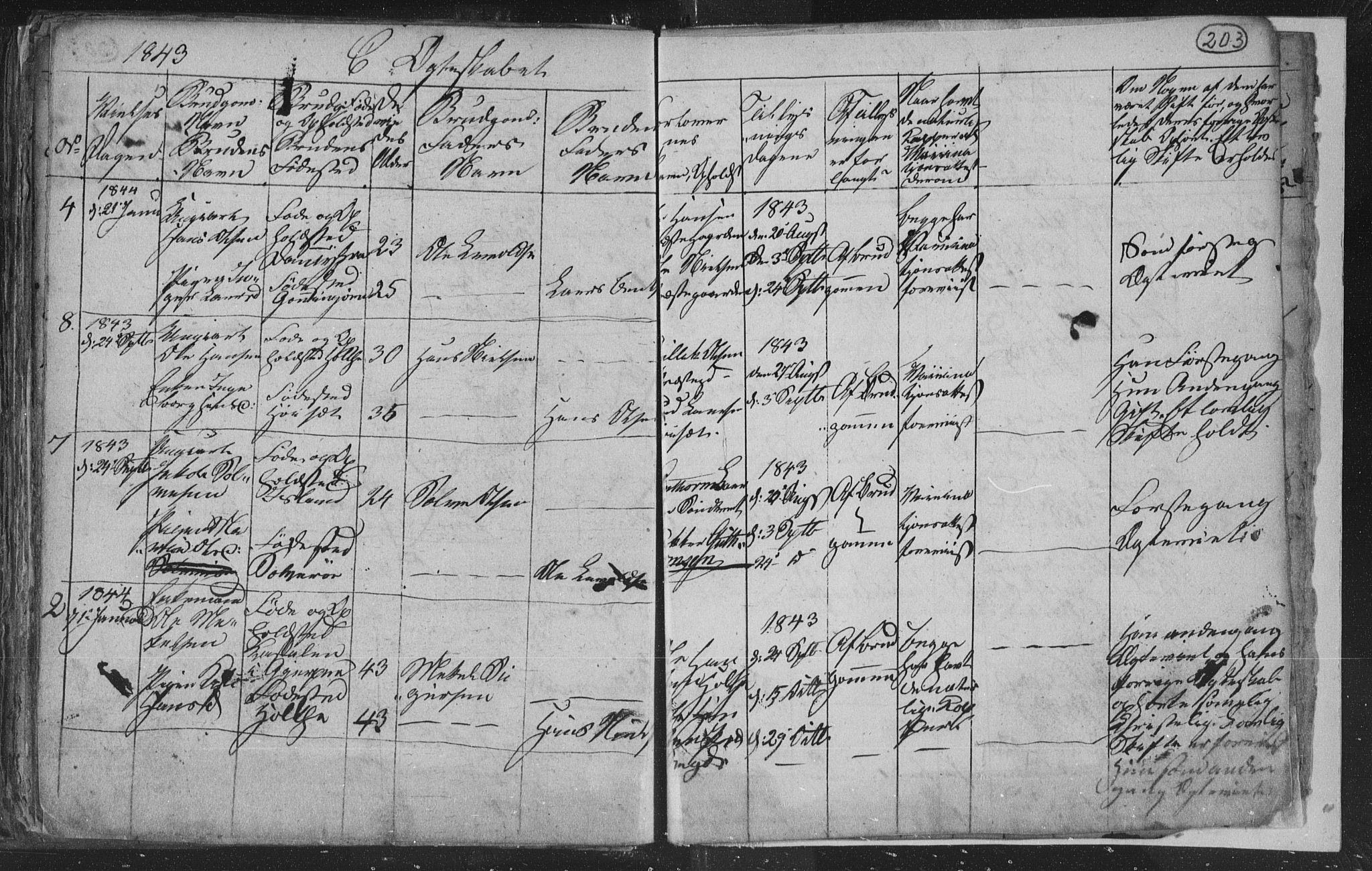 SAKO, Siljan kirkebøker, G/Ga/L0001: Klokkerbok nr. 1, 1827-1847, s. 203