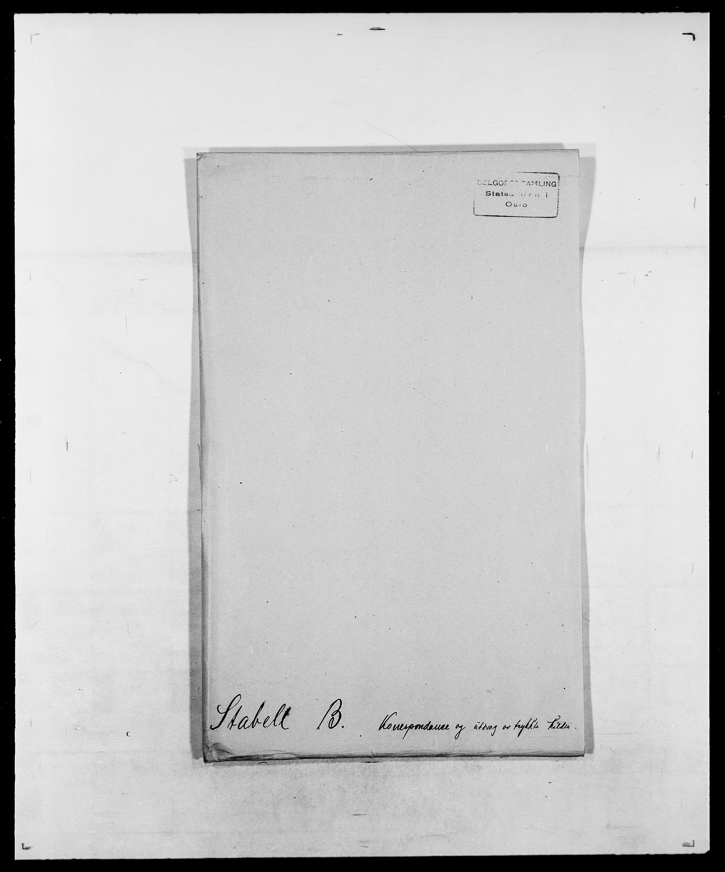 SAO, Delgobe, Charles Antoine - samling, D/Da/L0036: Skaanør - Staverskov, s. 633