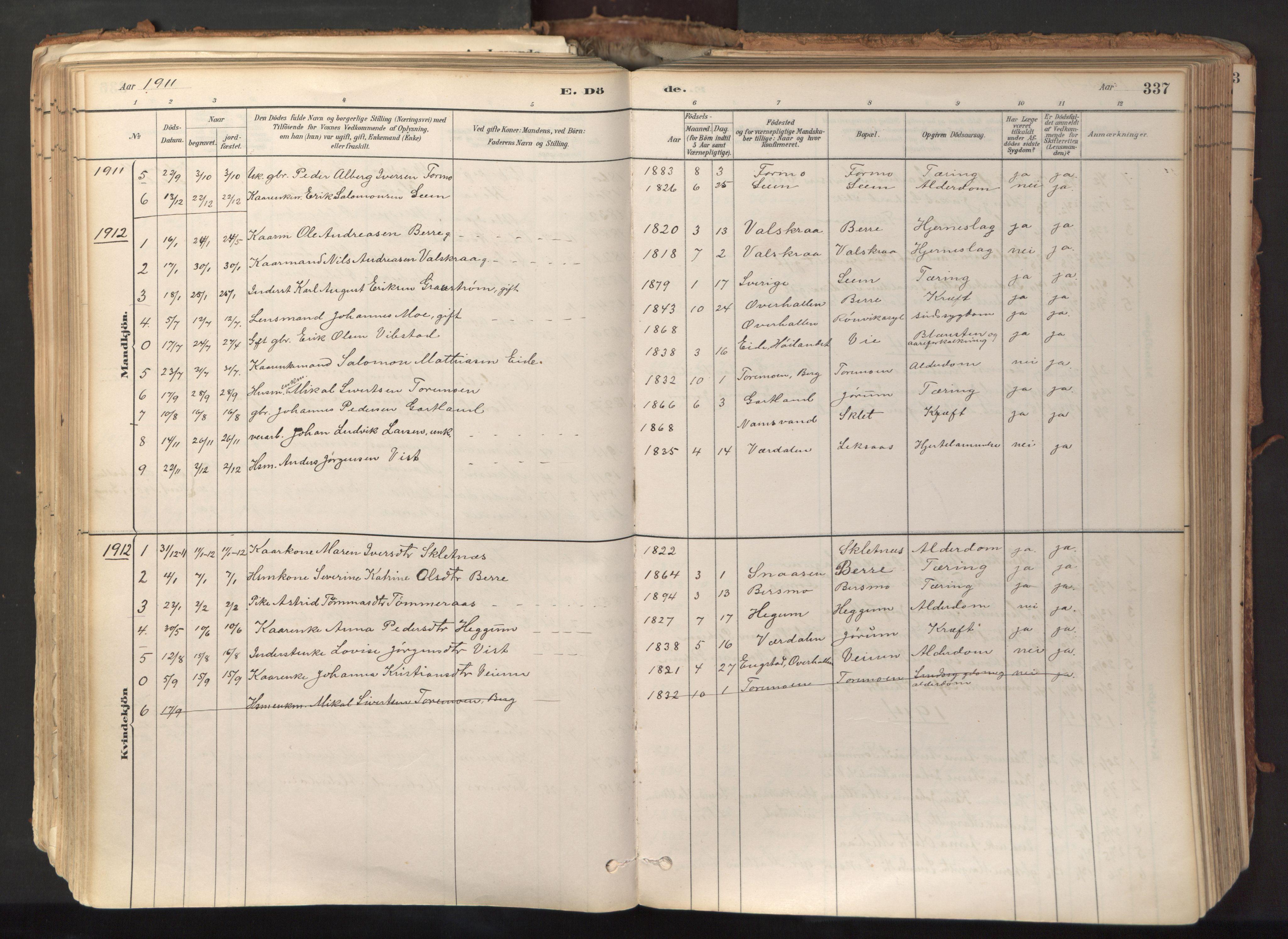 SAT, Ministerialprotokoller, klokkerbøker og fødselsregistre - Nord-Trøndelag, 758/L0519: Ministerialbok nr. 758A04, 1880-1926, s. 337