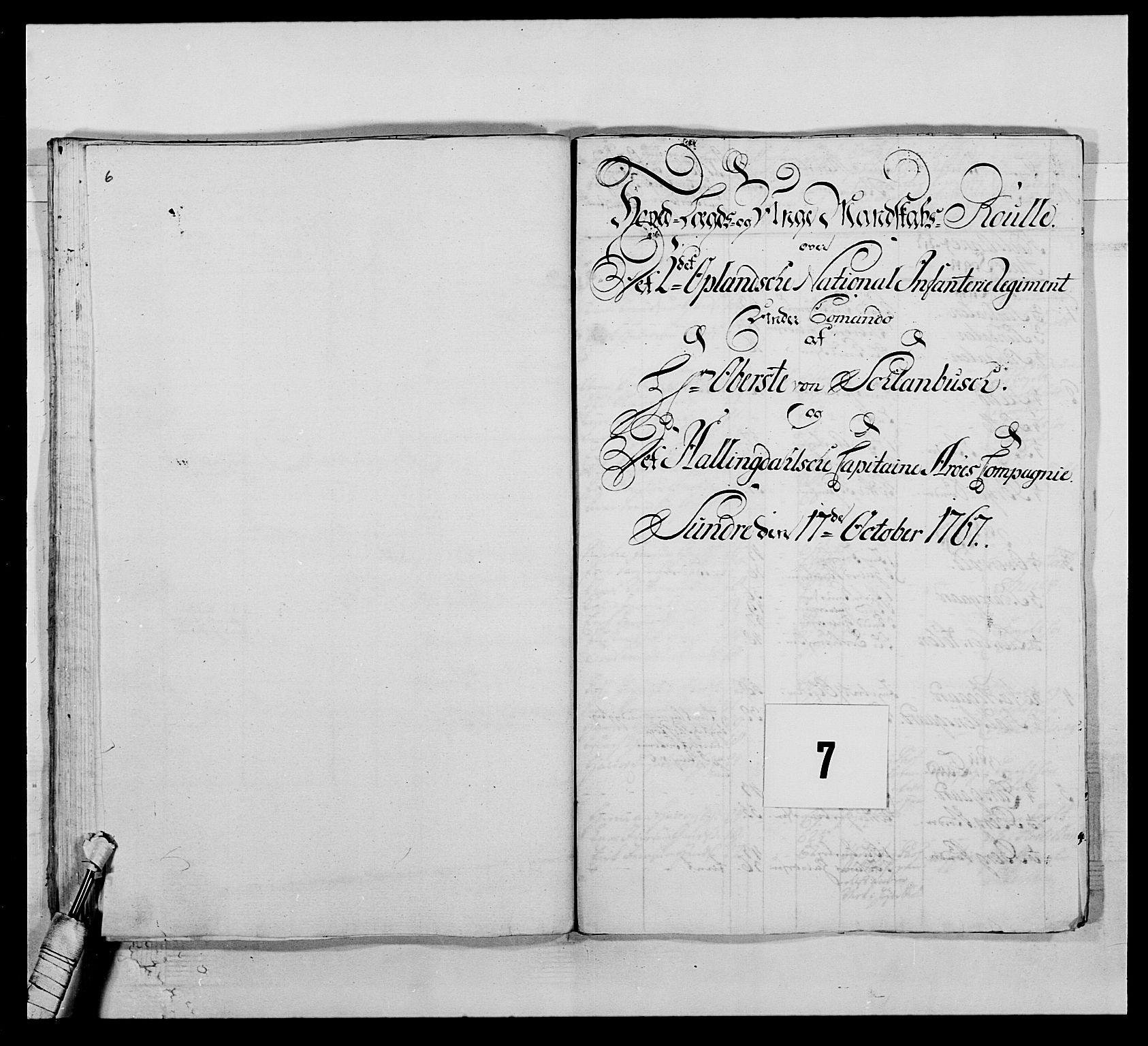 RA, Kommanderende general (KG I) med Det norske krigsdirektorium, E/Ea/L0507: 2. Opplandske regiment, 1766-1767, s. 145