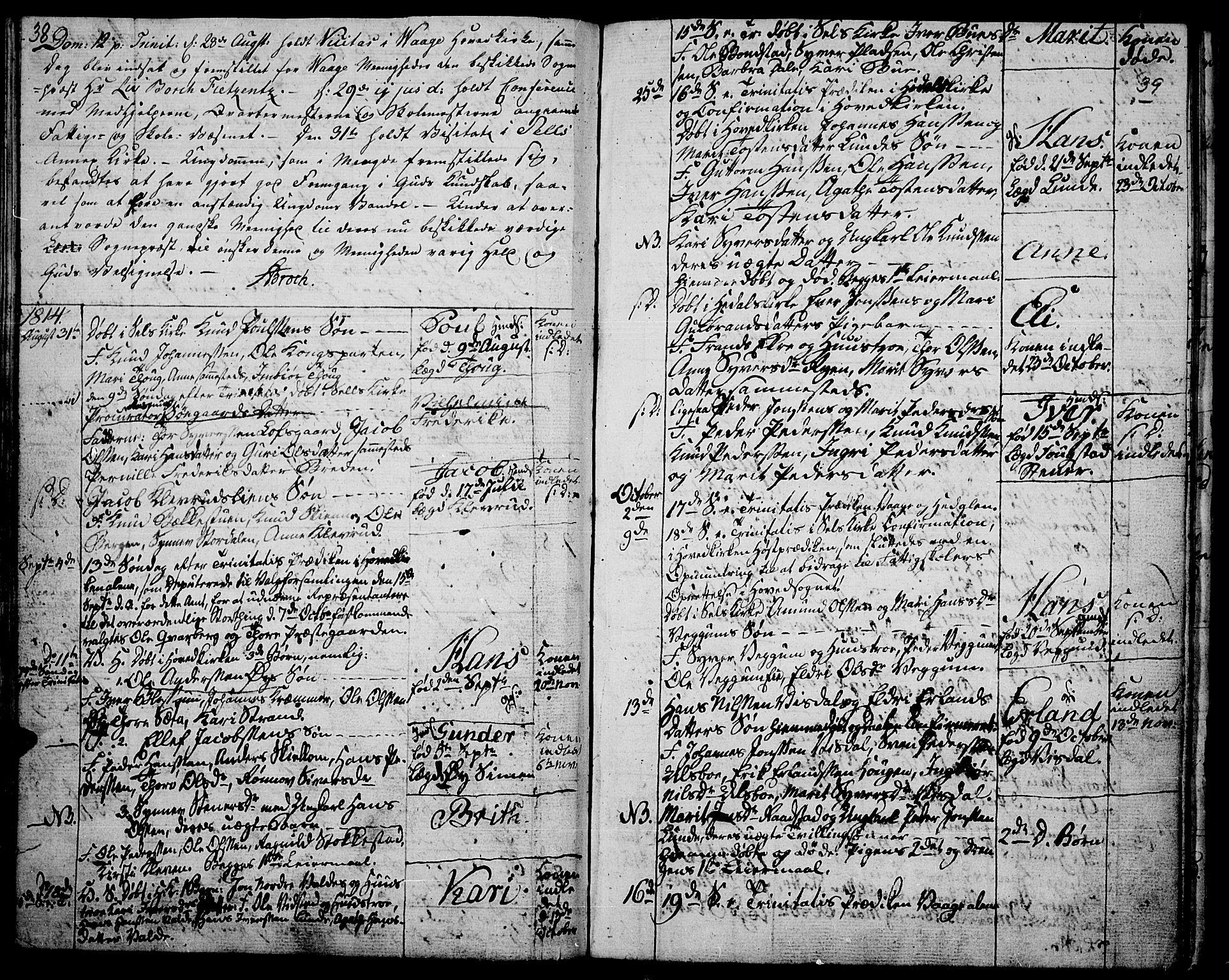 SAH, Vågå prestekontor, Ministerialbok nr. 2, 1810-1815, s. 38-39