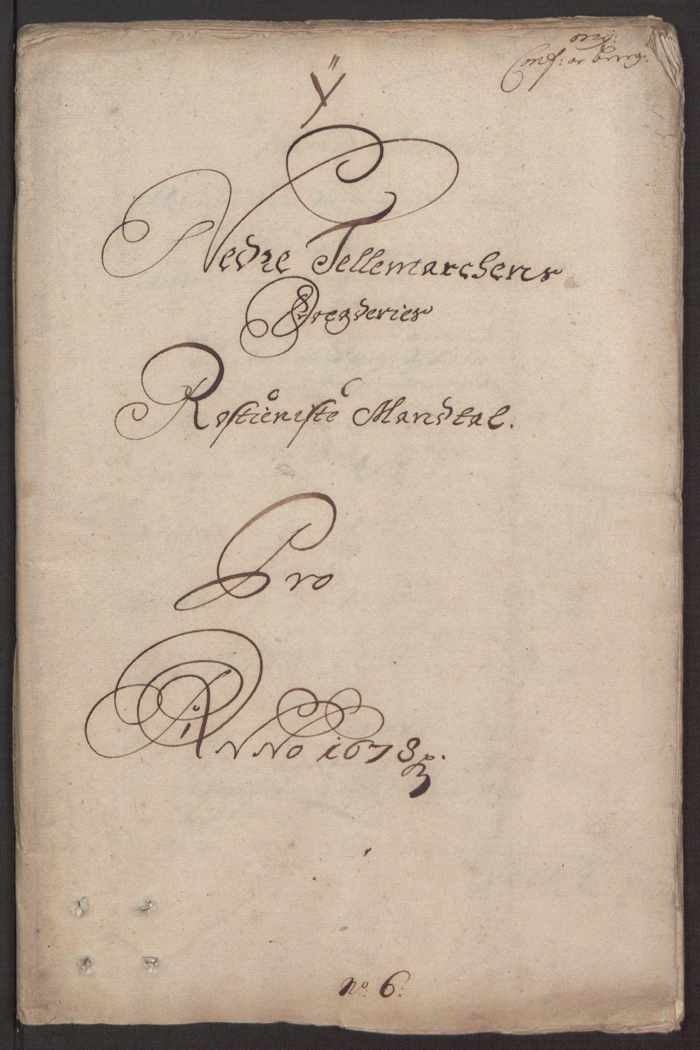 RA, Rentekammeret inntil 1814, Reviderte regnskaper, Fogderegnskap, R35/L2069: Fogderegnskap Øvre og Nedre Telemark, 1678, s. 123