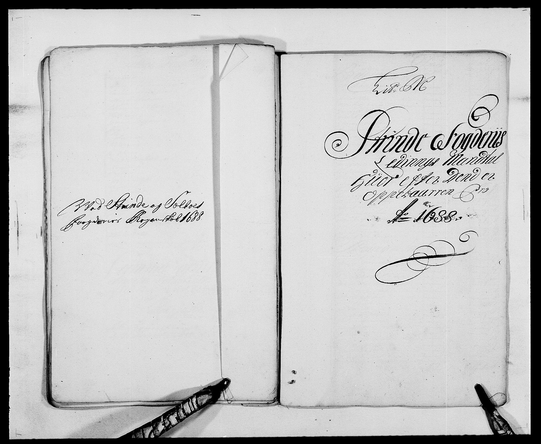 RA, Rentekammeret inntil 1814, Reviderte regnskaper, Fogderegnskap, R61/L4101: Fogderegnskap Strinda og Selbu, 1687-1688, s. 224
