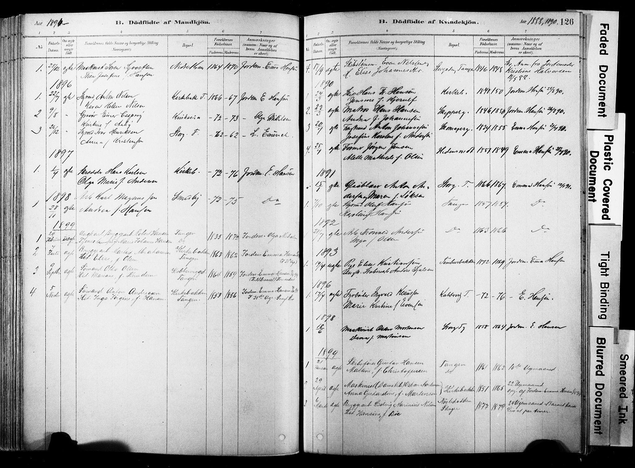 SAKO, Strømsø kirkebøker, F/Fb/L0006: Ministerialbok nr. II 6, 1879-1910, s. 126