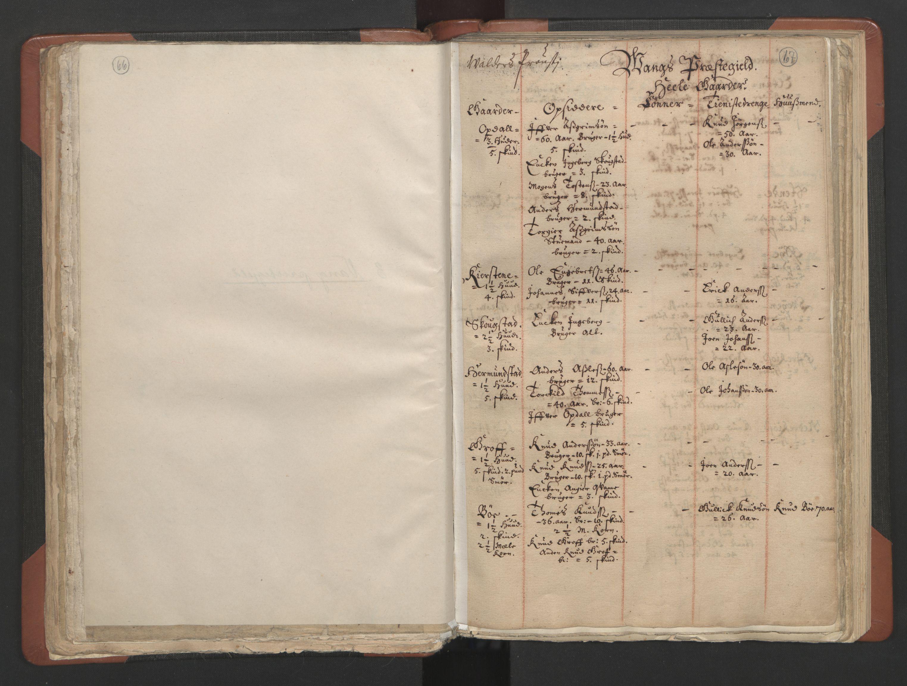 RA, Sogneprestenes manntall 1664-1666, nr. 8: Valdres prosti, 1664-1666, s. 66-67