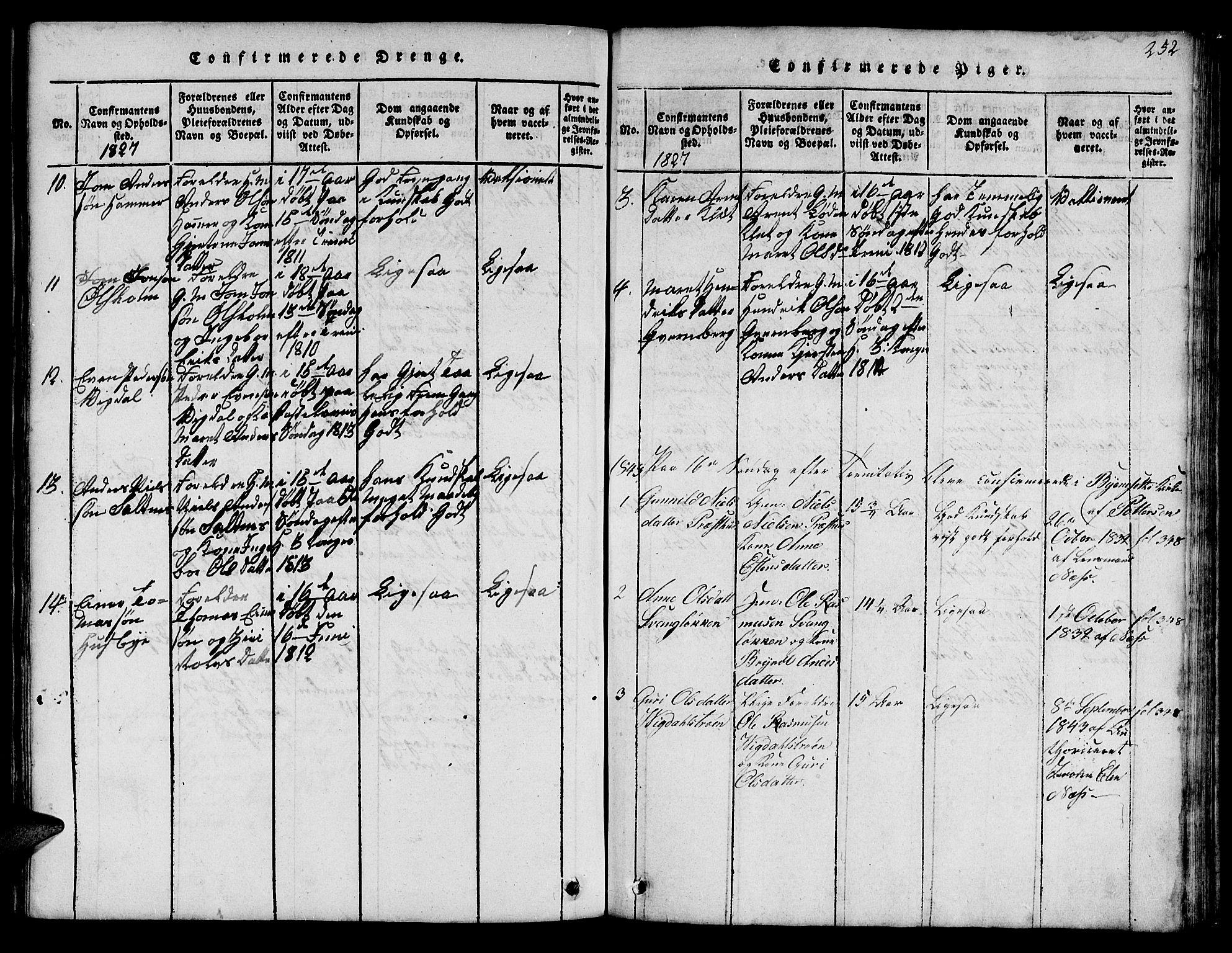 SAT, Ministerialprotokoller, klokkerbøker og fødselsregistre - Sør-Trøndelag, 666/L0788: Klokkerbok nr. 666C01, 1816-1847, s. 252