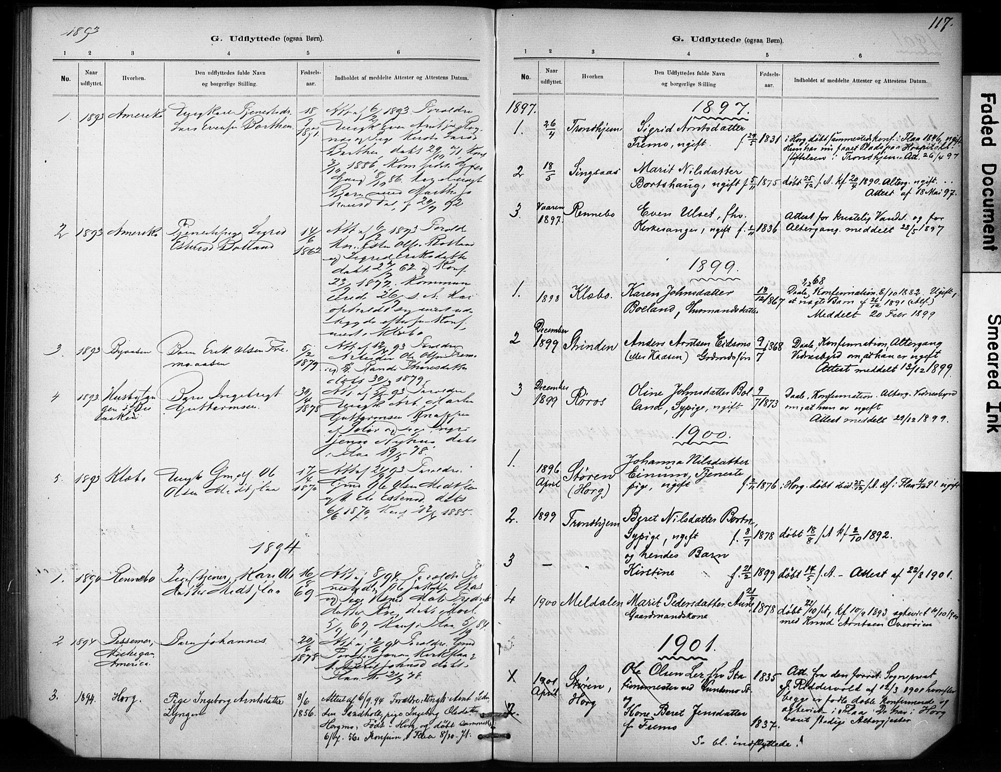 SAT, Ministerialprotokoller, klokkerbøker og fødselsregistre - Sør-Trøndelag, 693/L1119: Ministerialbok nr. 693A01, 1887-1905, s. 117