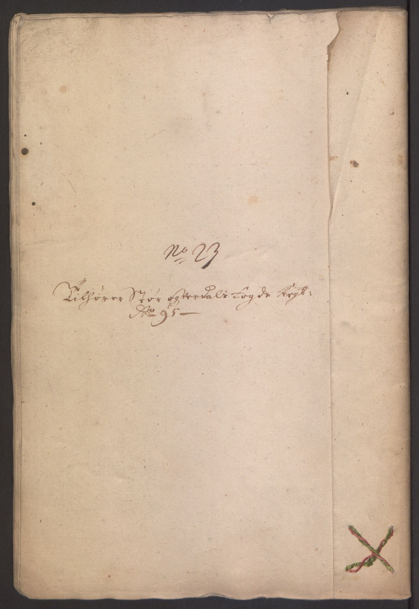 RA, Rentekammeret inntil 1814, Reviderte regnskaper, Fogderegnskap, R62/L4187: Fogderegnskap Stjørdal og Verdal, 1695, s. 280