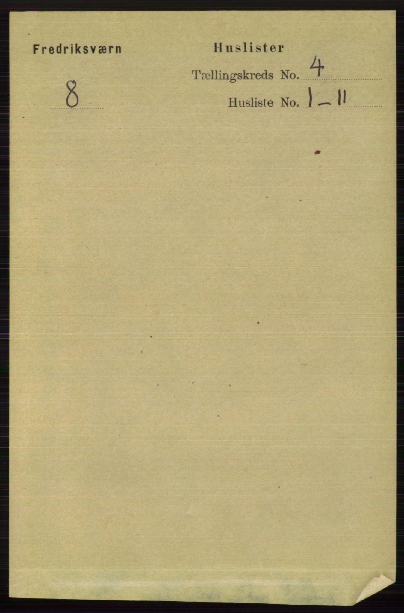 RA, Folketelling 1891 for 0798 Fredriksvern herred, 1891, s. 697