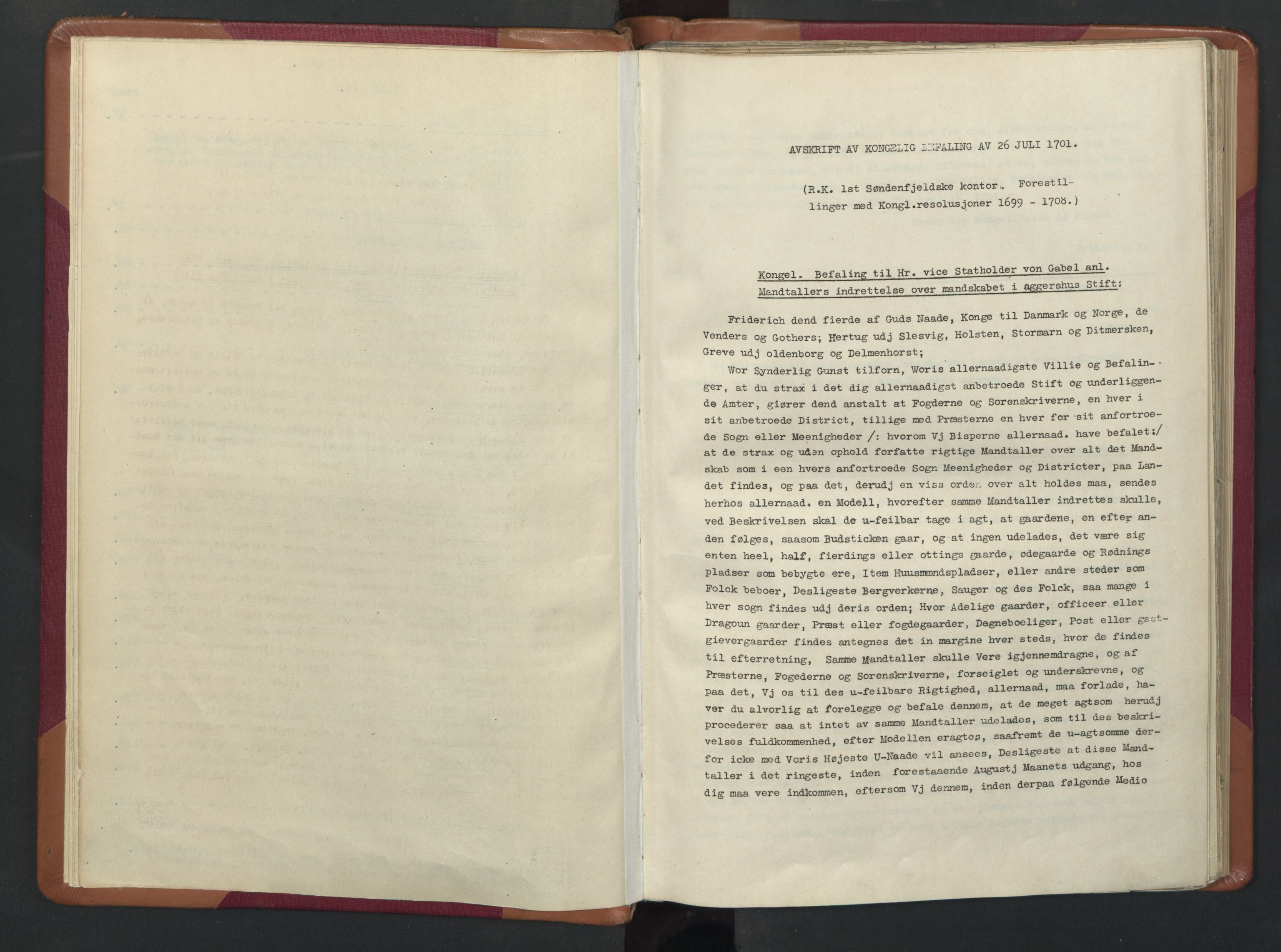 RA, Manntallet 1701, nr. 13: Orkdal fogderi og Gauldal fogderi med Røros kobberverk, 1701, s. upaginert