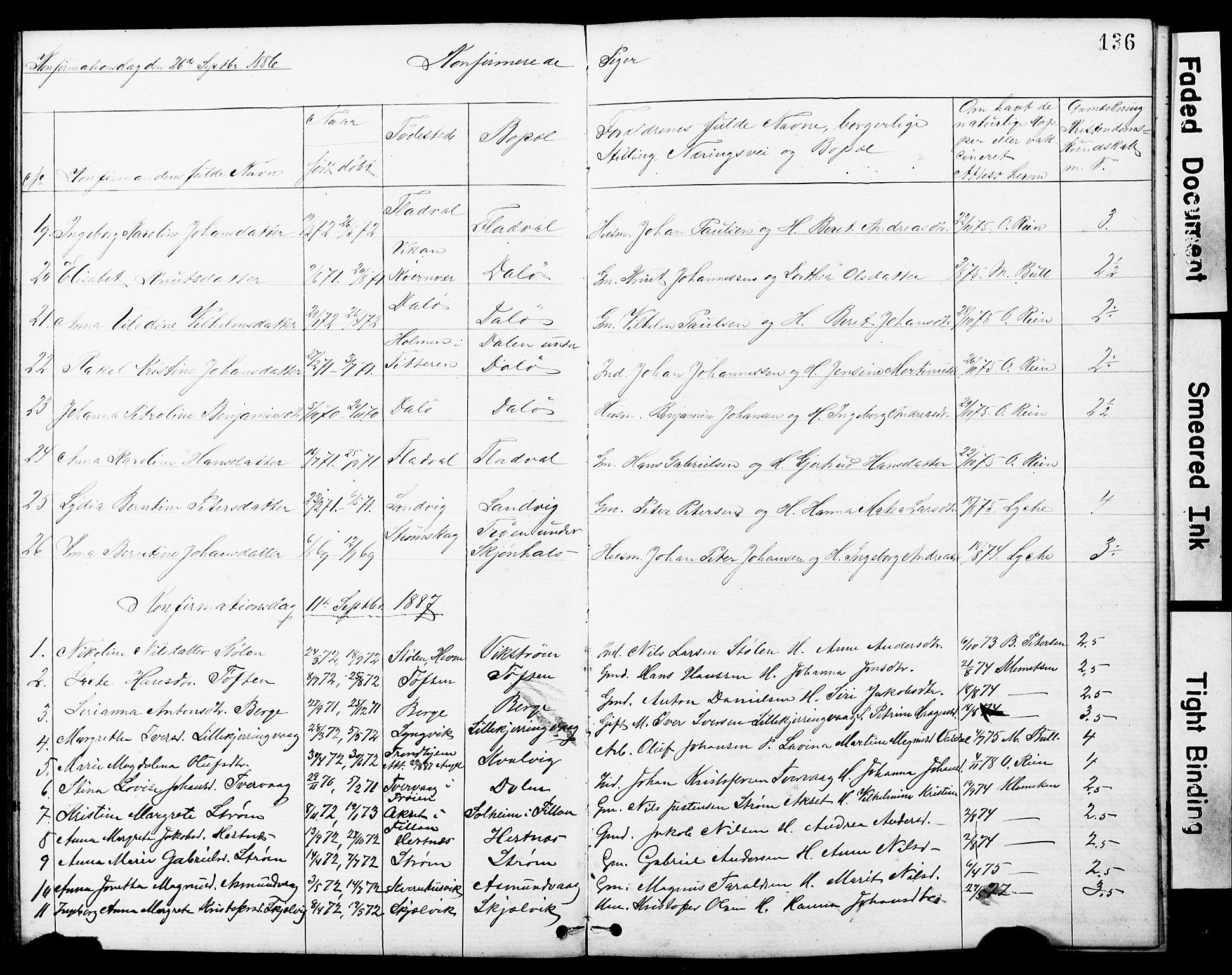 SAT, Ministerialprotokoller, klokkerbøker og fødselsregistre - Sør-Trøndelag, 634/L0541: Klokkerbok nr. 634C03, 1874-1891, s. 136