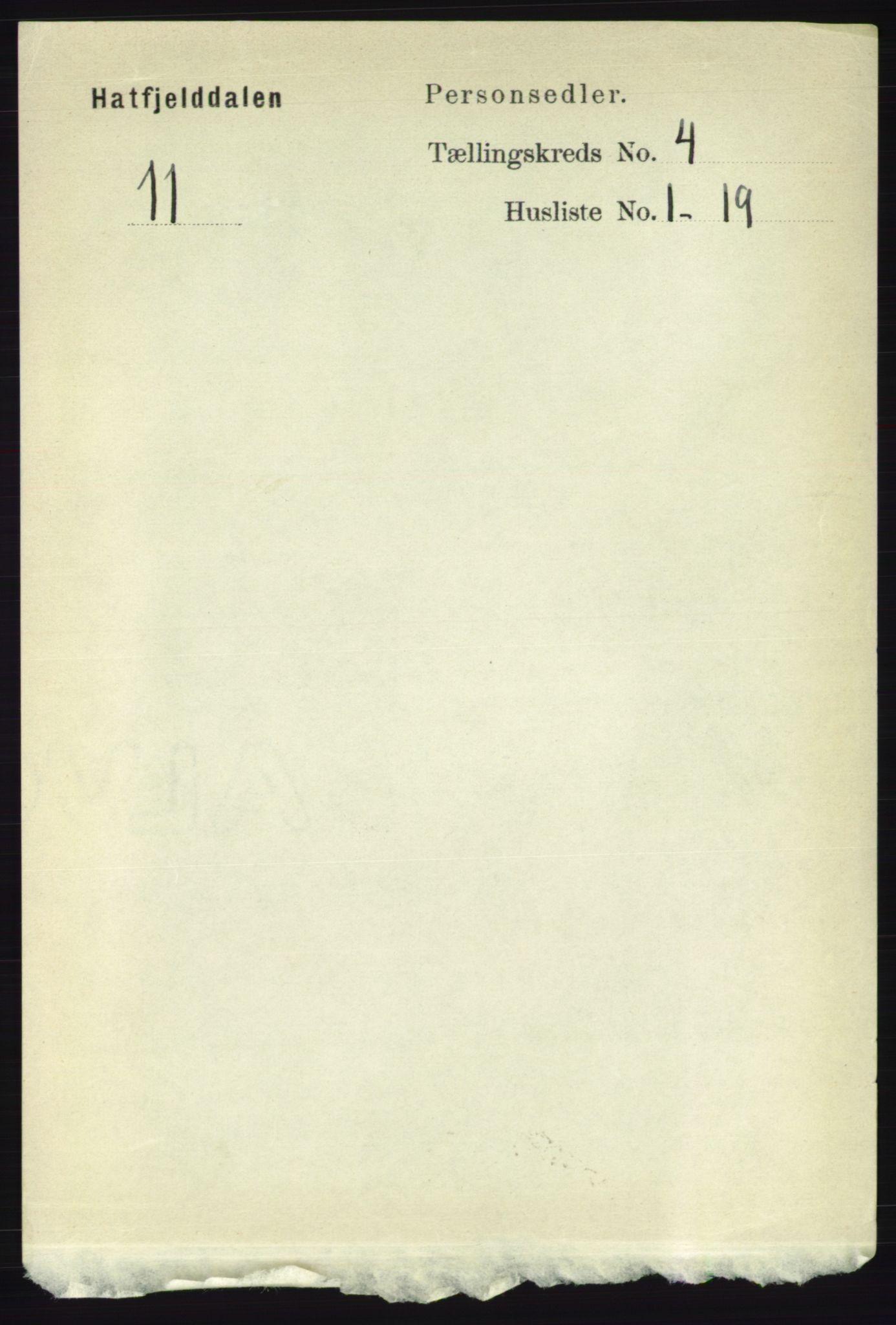 RA, Folketelling 1891 for 1826 Hattfjelldal herred, 1891, s. 917