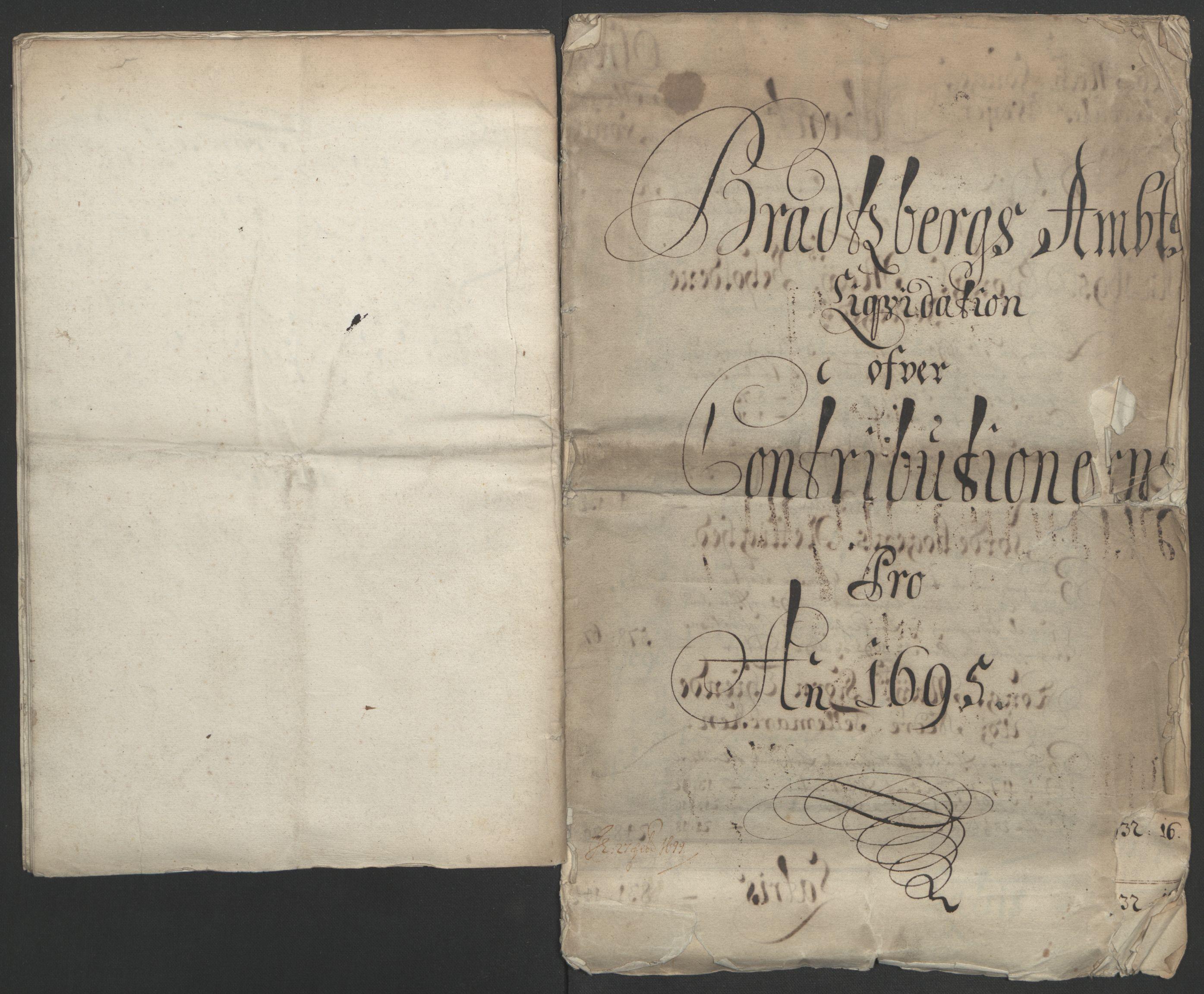 RA, Rentekammeret inntil 1814, Reviderte regnskaper, Fogderegnskap, R36/L2093: Fogderegnskap Øvre og Nedre Telemark og Bamble, 1695, s. 26