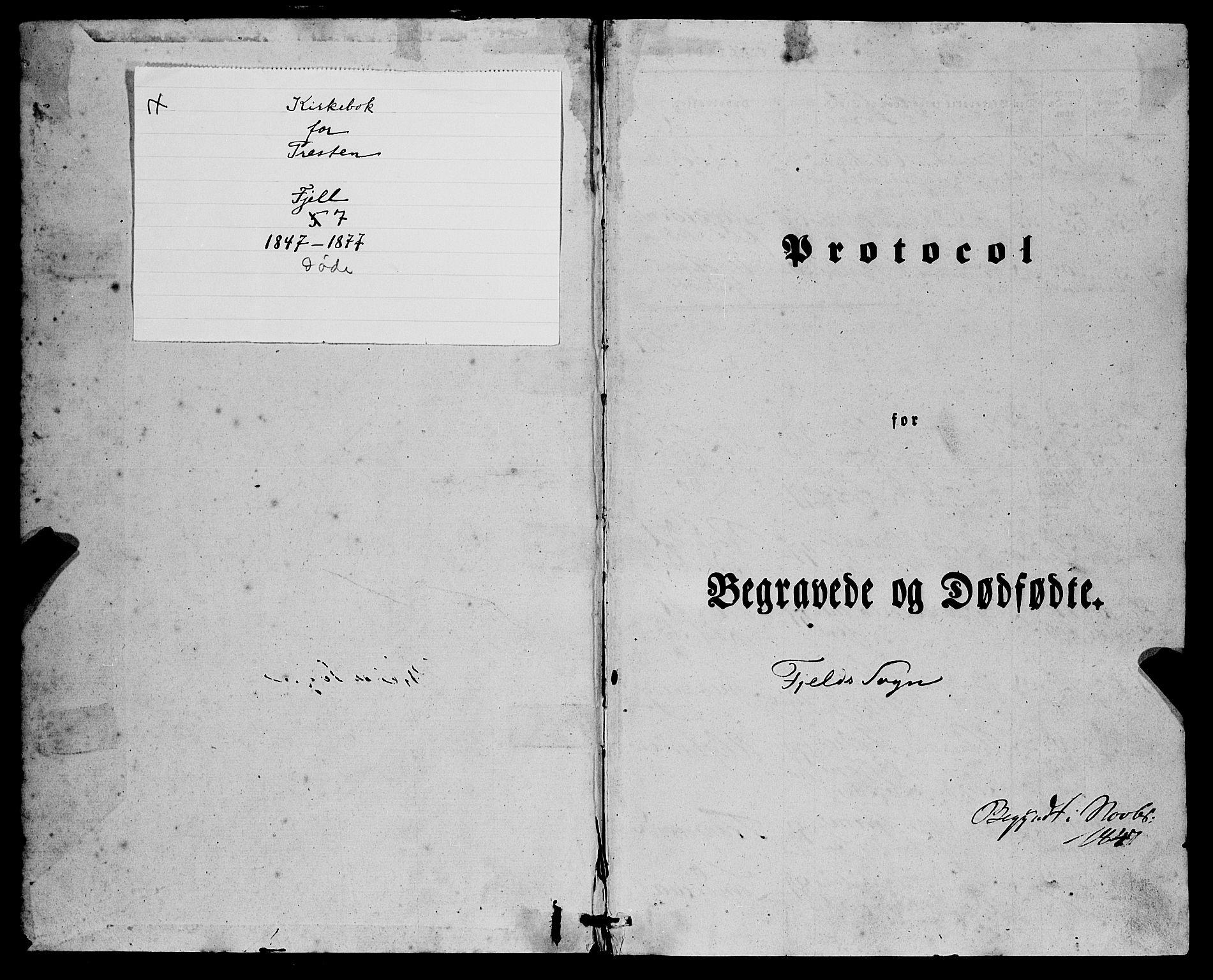 SAB, Fjell Sokneprestembete, H/Haa: Ministerialbok nr. A 7, 1847-1877, s. 1