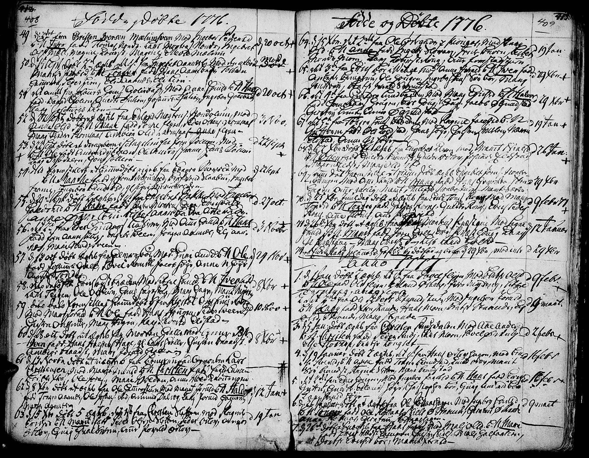 SAH, Ringebu prestekontor, Ministerialbok nr. 2, 1734-1780, s. 408-409