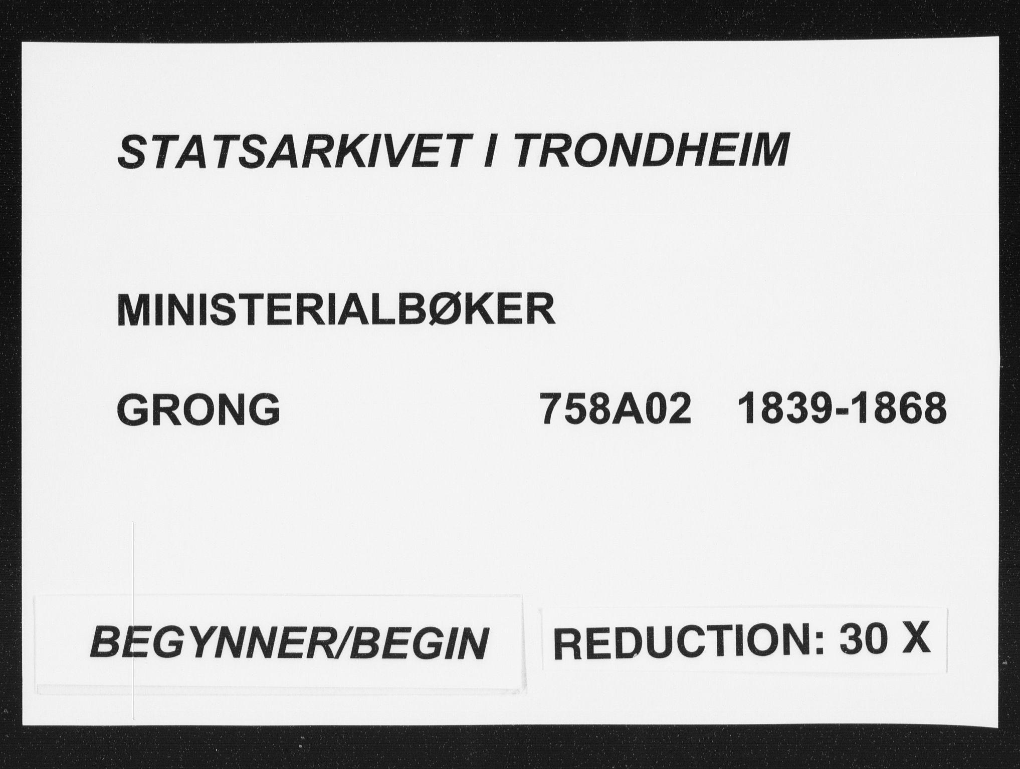 SAT, Ministerialprotokoller, klokkerbøker og fødselsregistre - Nord-Trøndelag, 758/L0513: Ministerialbok nr. 758A02 /1, 1839-1868