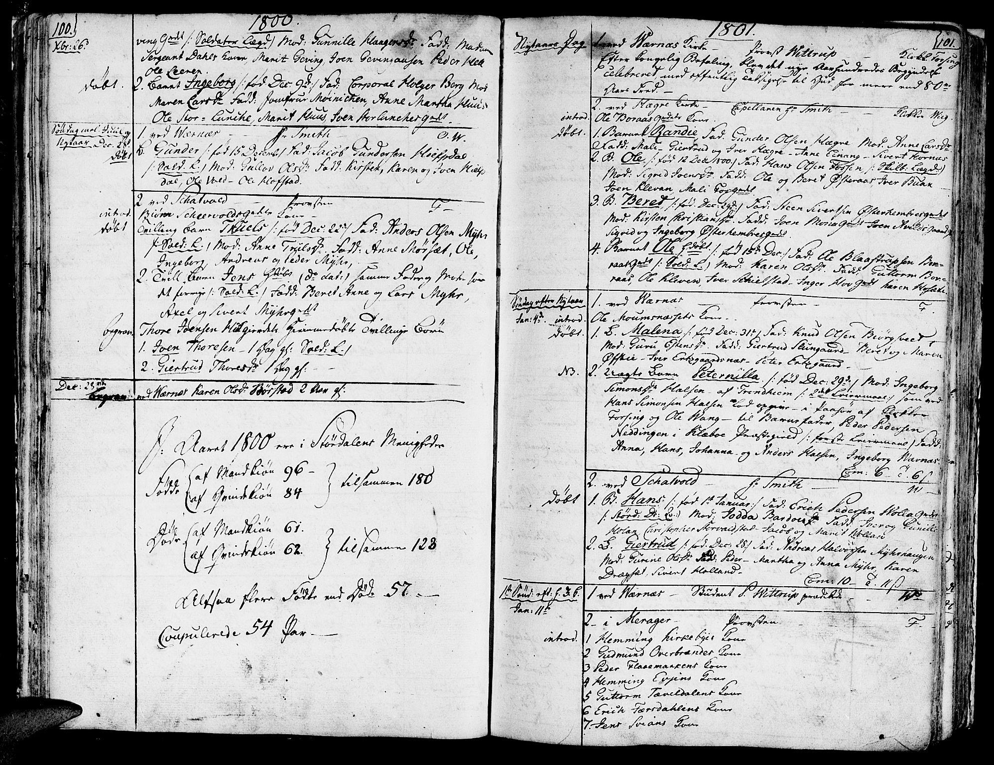 SAT, Ministerialprotokoller, klokkerbøker og fødselsregistre - Nord-Trøndelag, 709/L0060: Ministerialbok nr. 709A07, 1797-1815, s. 100-101